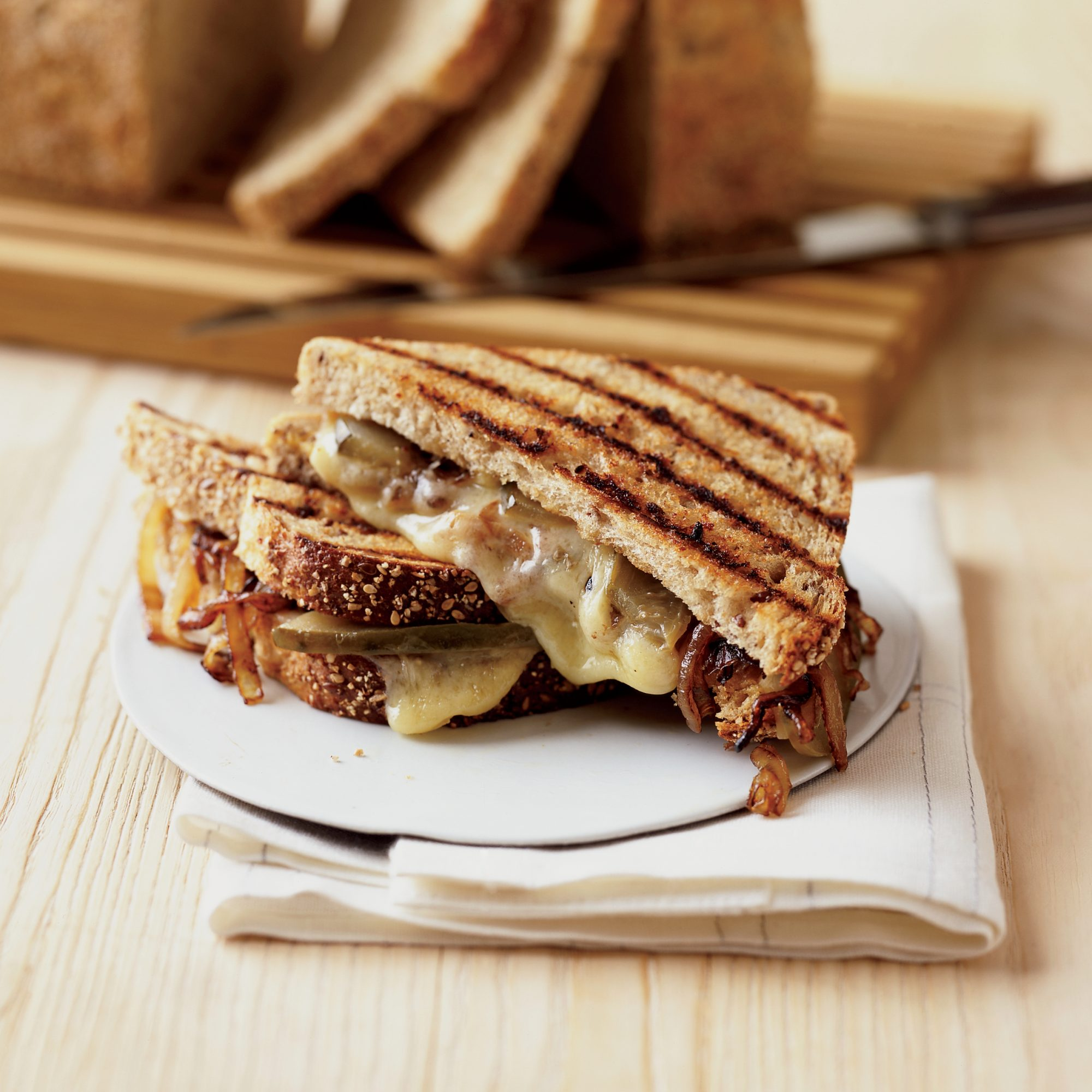 Grilled Gruyère and Sweet Onion Sandwiches