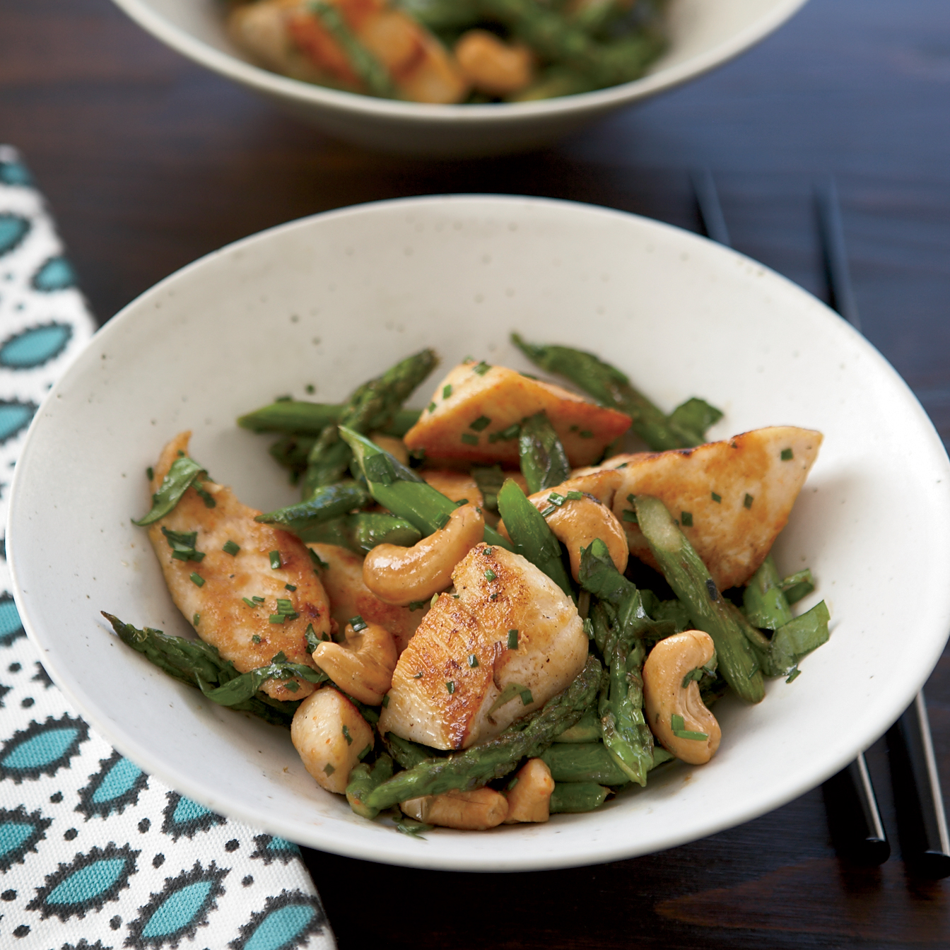 Chicken Stir-Fry with Asparagus and Cashews Recipe -Stéphane Vivier ...
