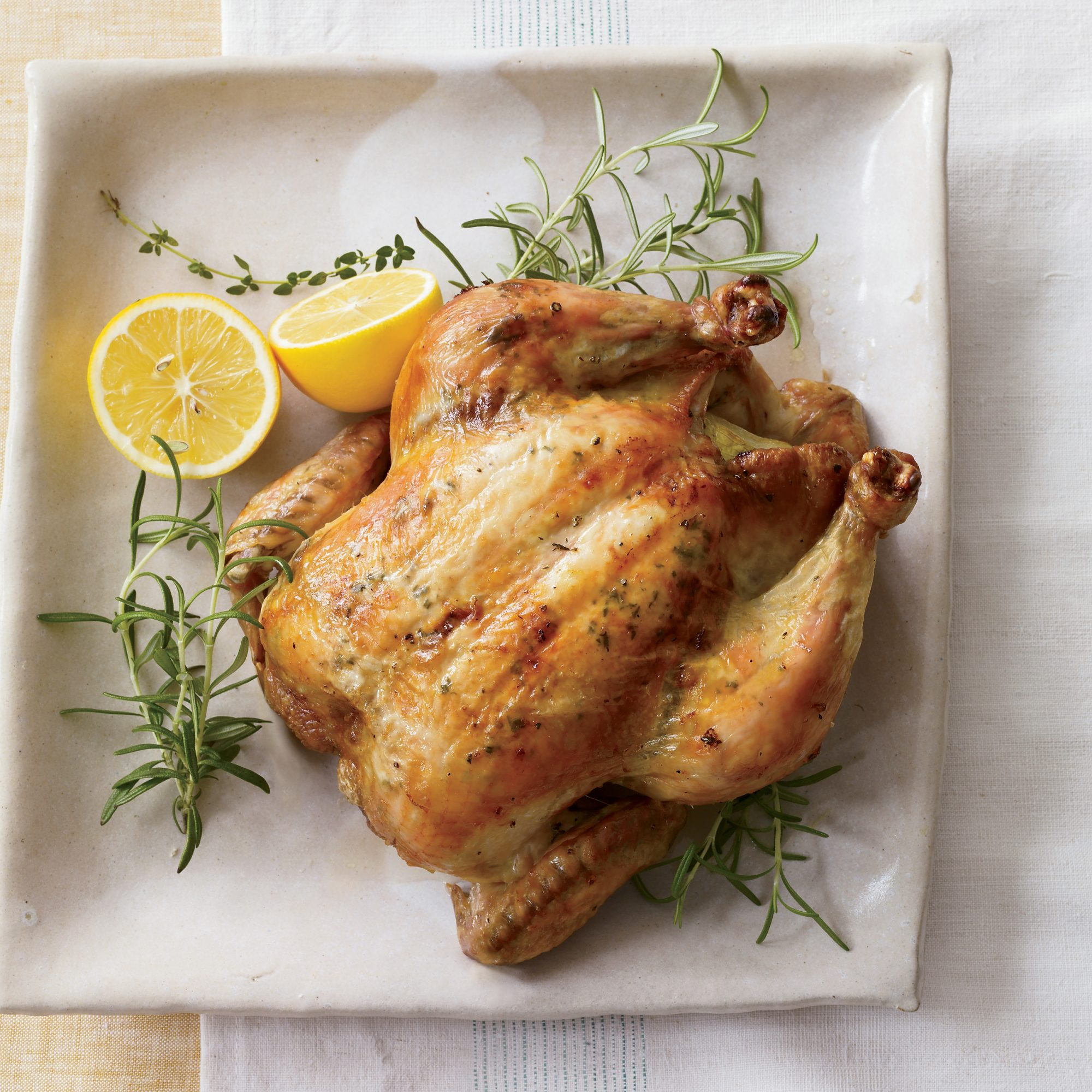 Lemon Roasted Chicken with Herbs Recipe