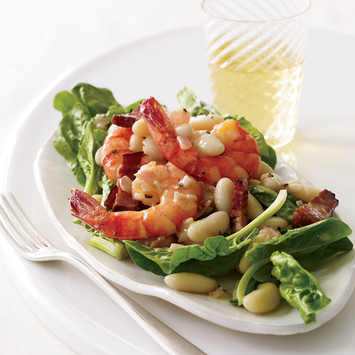 Warm Spinach Salad with Cannellini Beans and Shrimp Recipe - Melissa ...