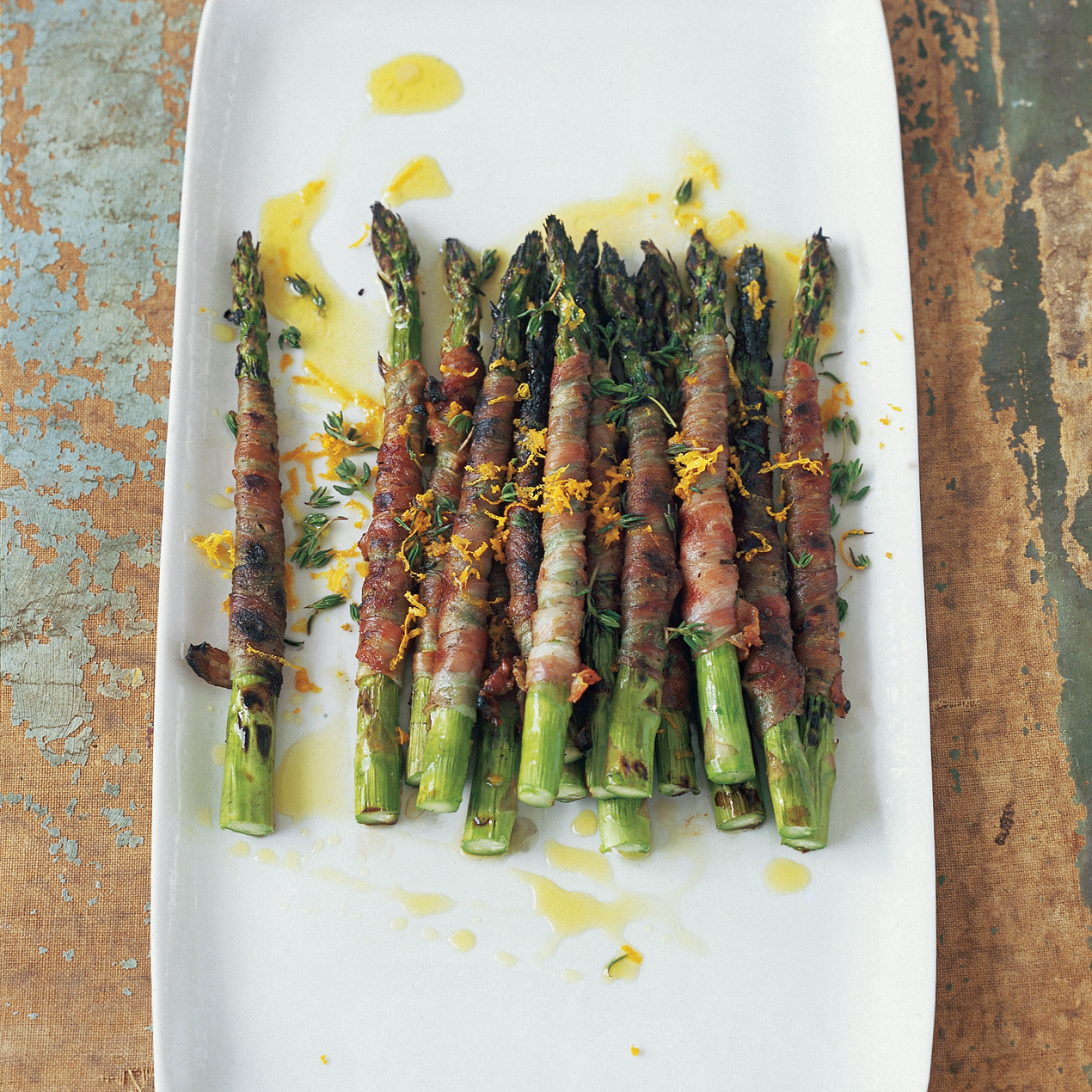 Pancetta Wrapped Asparagus - Once Upon a Chef |Pancetta Wrapped Halibut