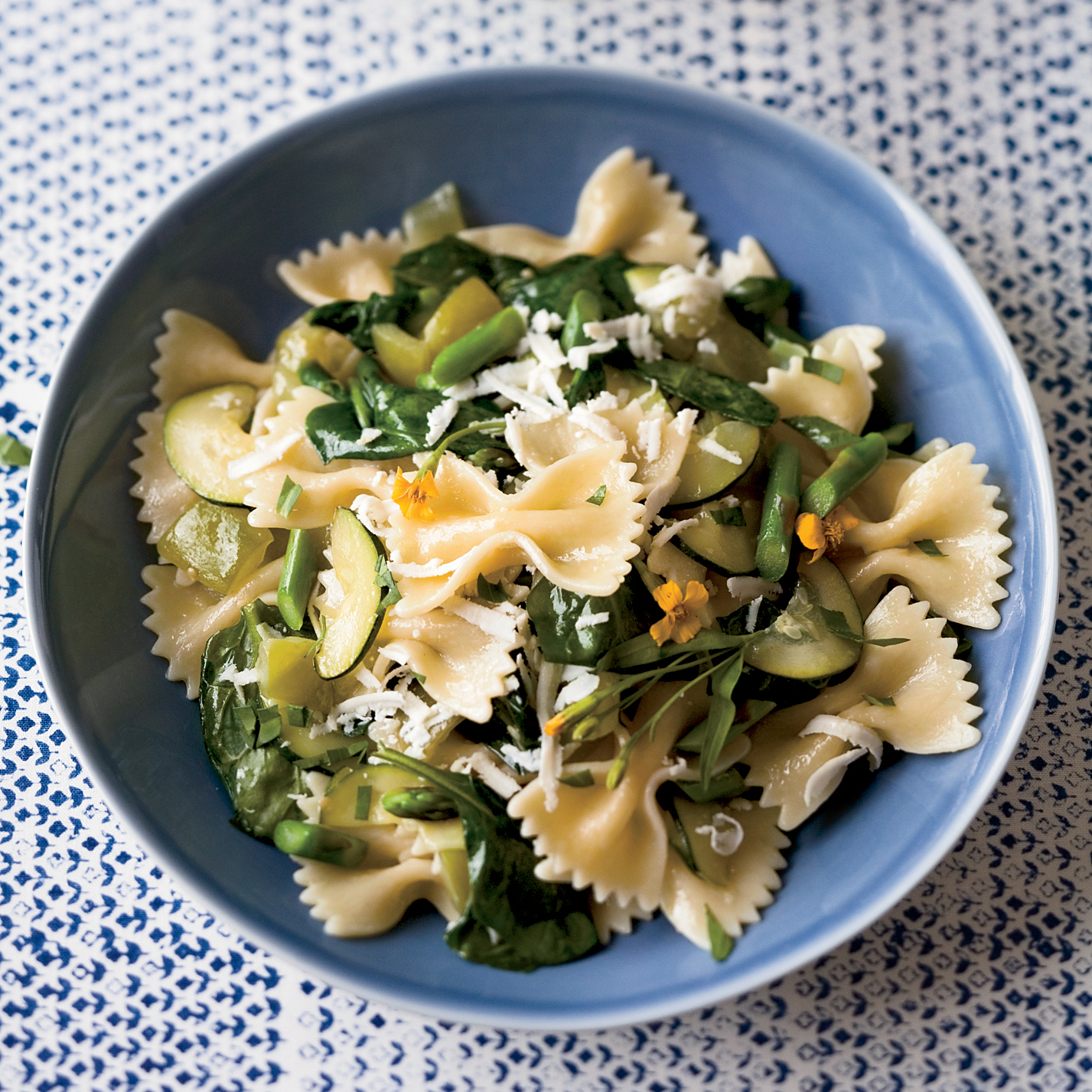 Farfalle with Tomatoes and Green Vegetables