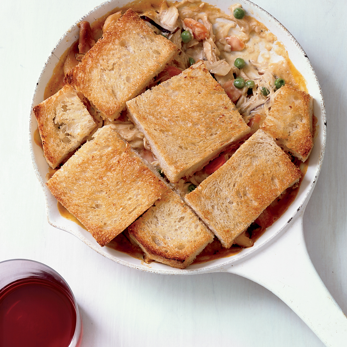 Skillet Chicken-and-Mushroom Potpie