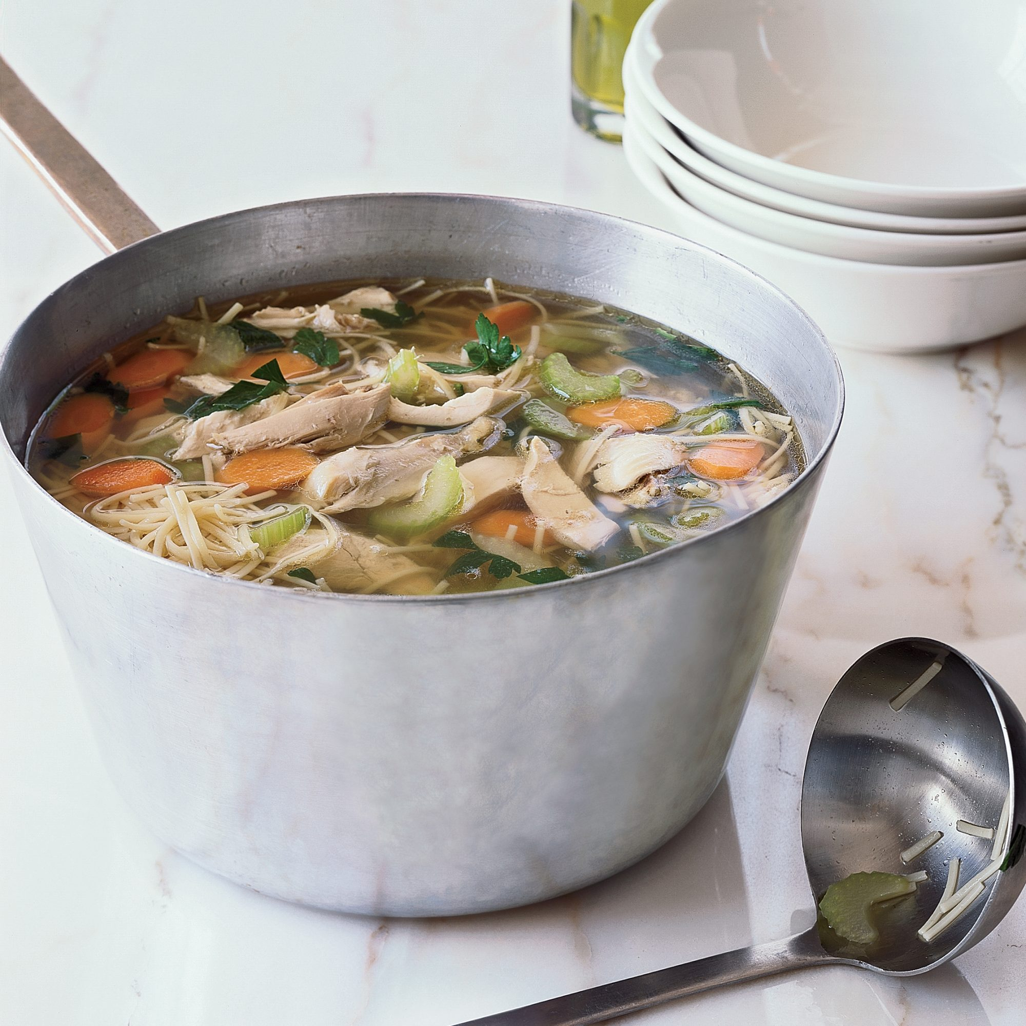 <p>March 22: Classic Chicken Noodle Soup</p>