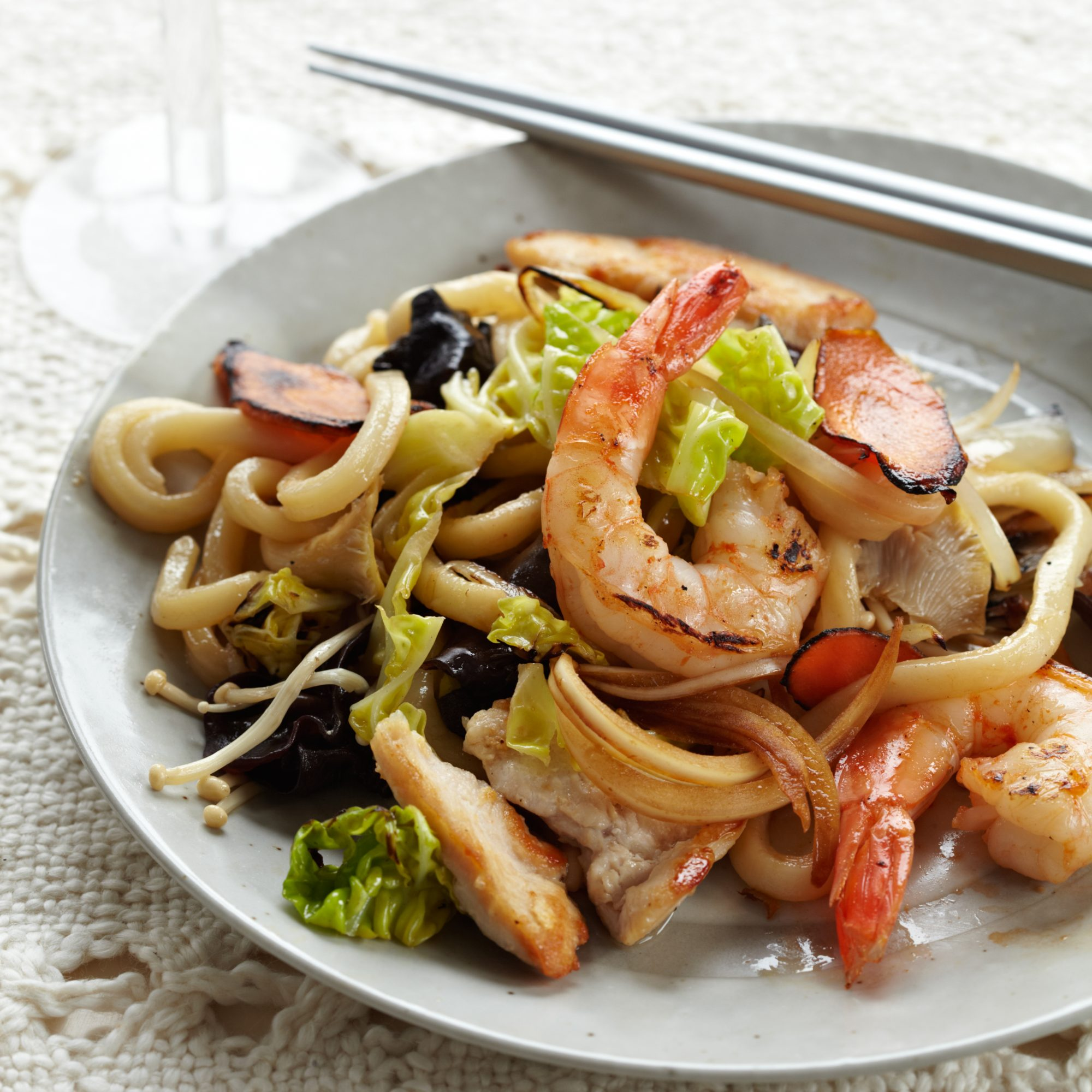Stir-Fried Udon Noodles