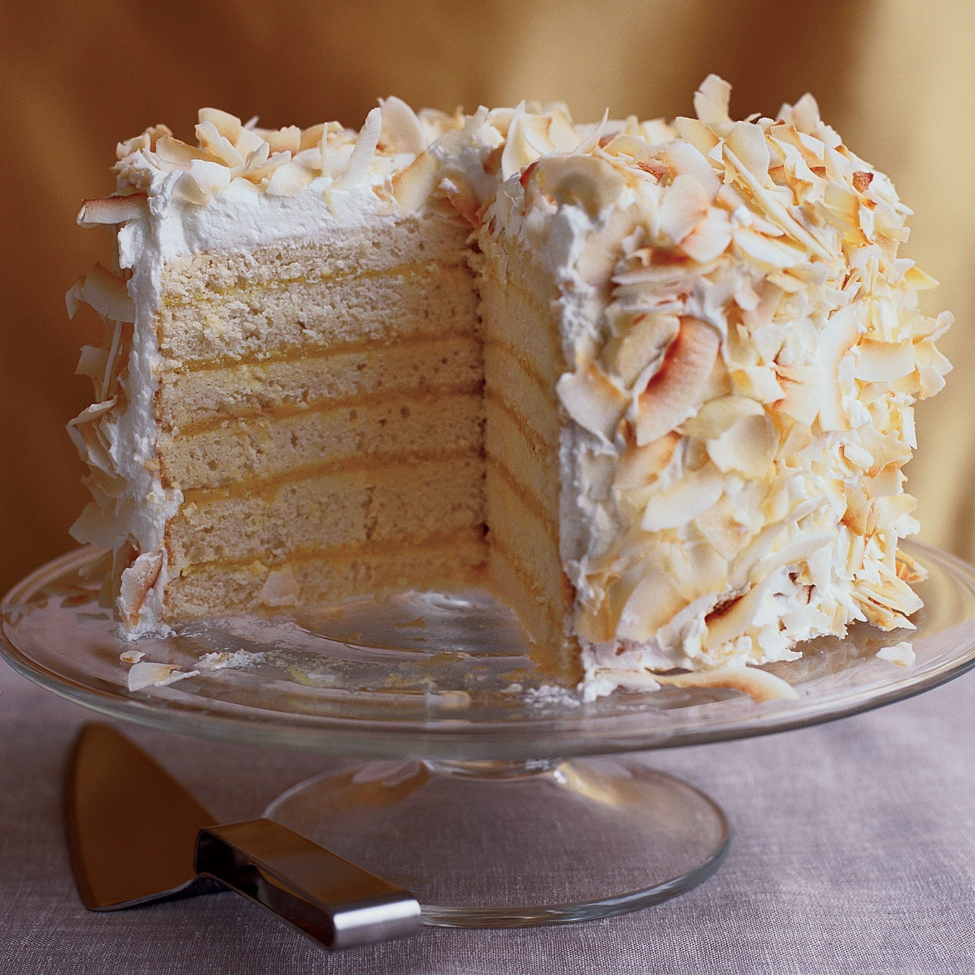 Six–Layer Coconut Cake with Passion Fruit Filling