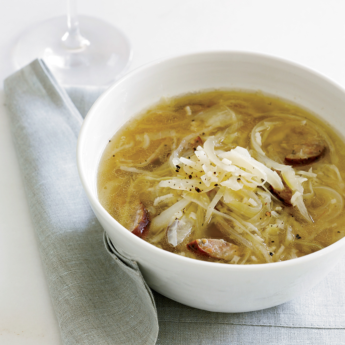 Cabbage, Kielbasa and Rice Soup RecipeMelissa Rubel Jacobson