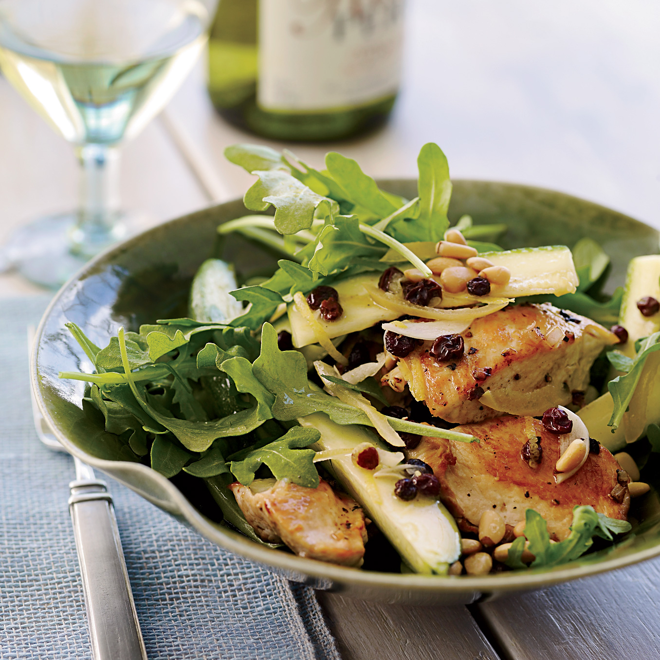 Chicken Salad With Zucchini, Lemon And Pine Nuts Recipe