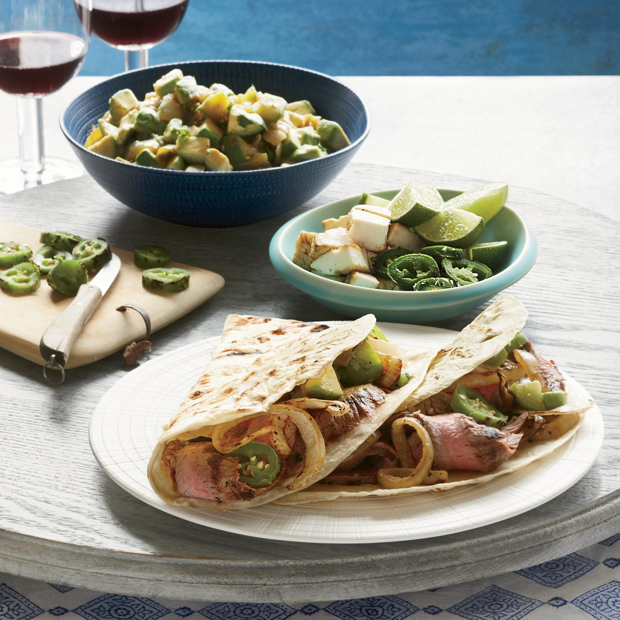 Grilled Steak Tacos with Avocado Salsa Recipe -Gonzalo Martinez | Food ...