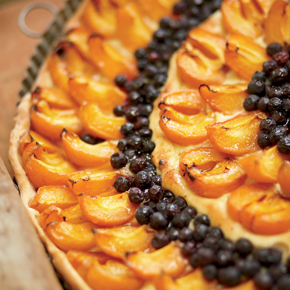 Apricot-and-Blueberry Tart