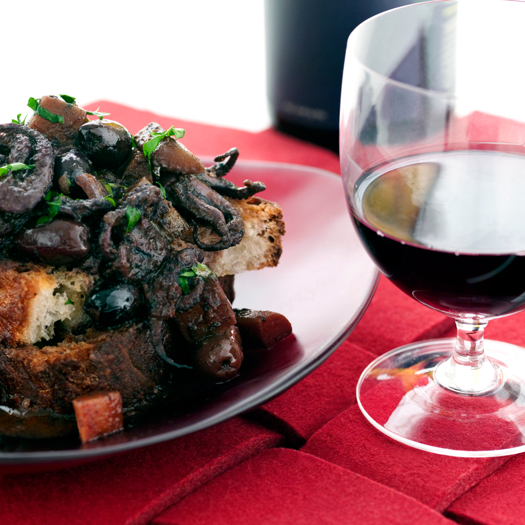 Food Wine: Red Wine-Braised Baby Octopus With Black Olives Recipe