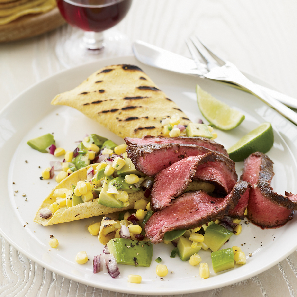 Day 9: Chipotle-Marinated Flatiron Steak with Avocado-Corn Relish