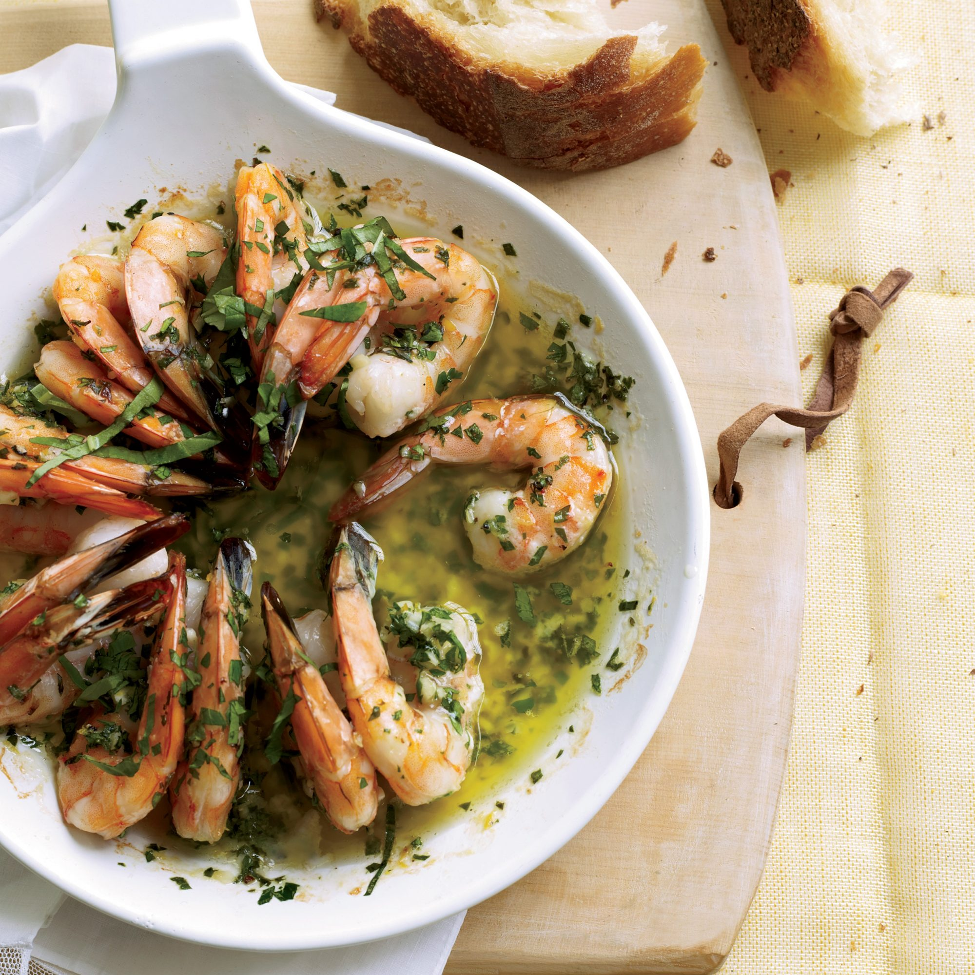 Sizzling Shrimp Scampi Recipe - Melissa Rubel Jacobson | Food & Wine