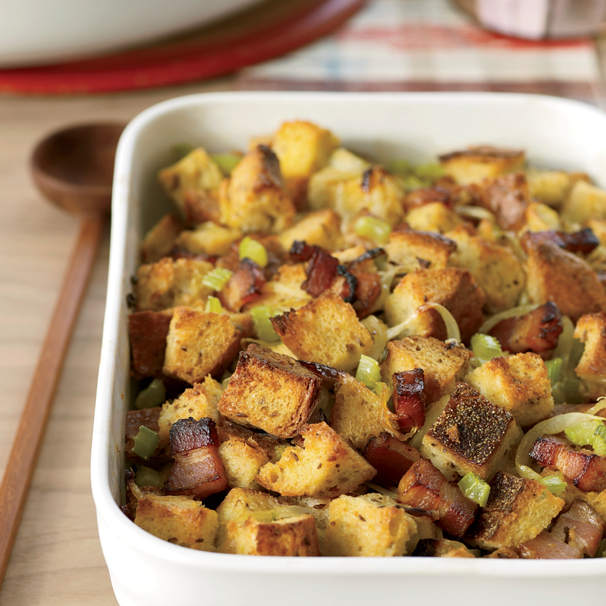 Bacon, Onion and Rye Bread Stuffing Recipe - Melissa Rubel ...