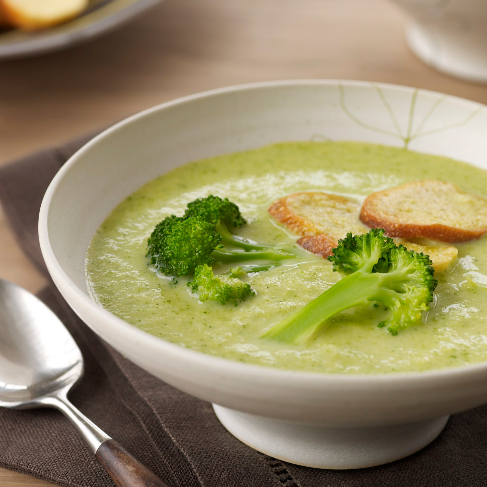 Creamy Broccoli Soup with Croutons Recipe - Marcia Kiesel | Food ...