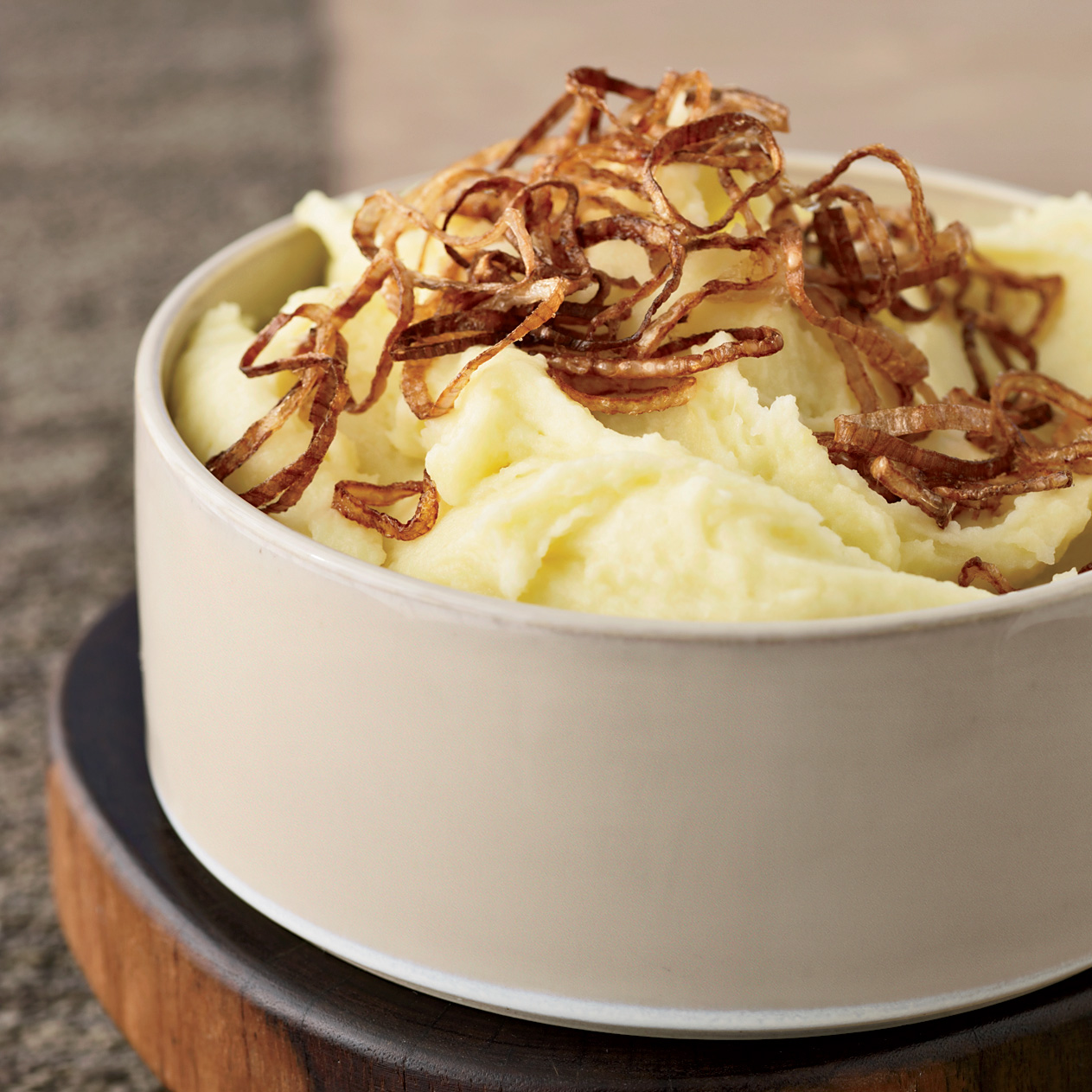 March 15: Mashed Potatoes with Crispy Shallots