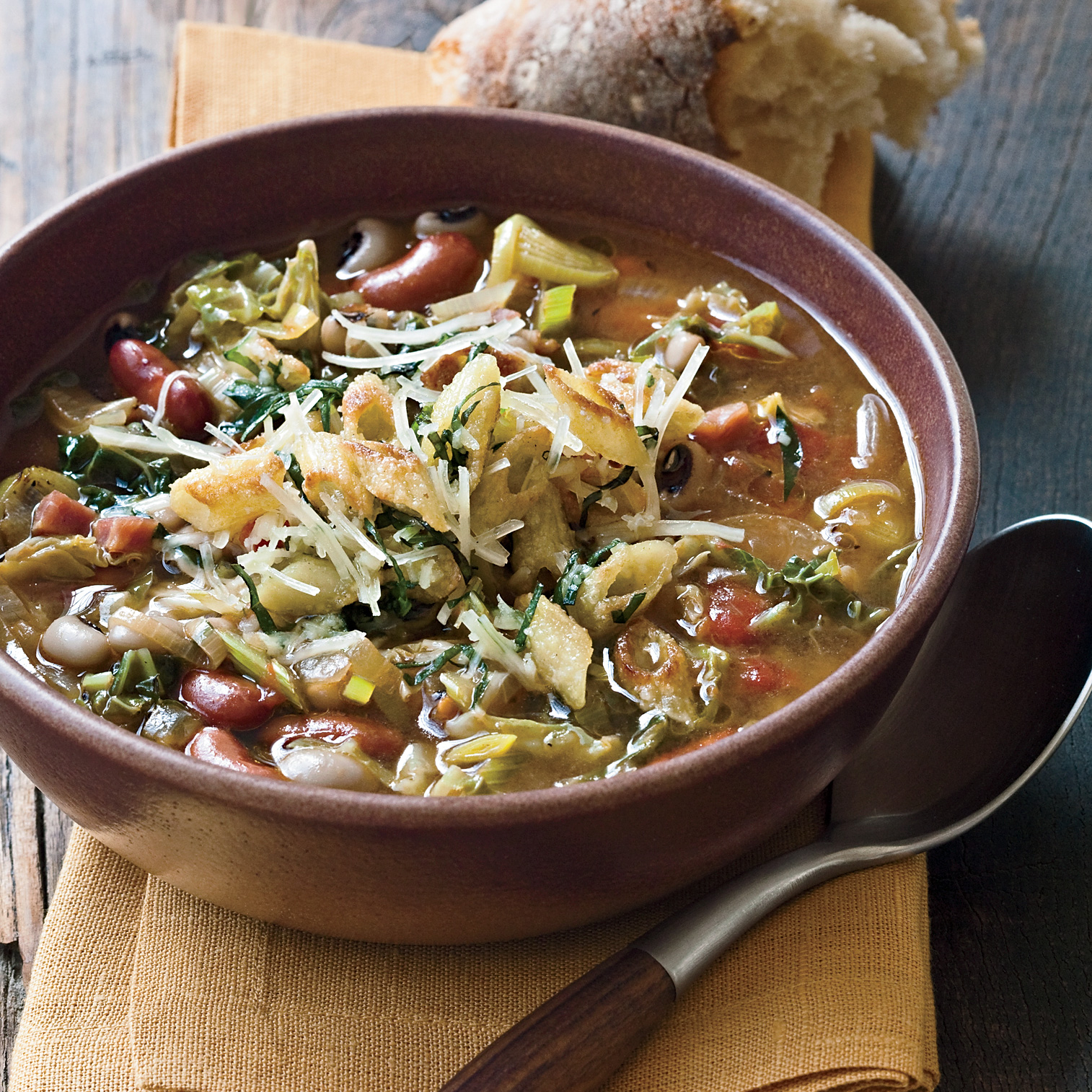 Minestrone with Black-Eyed Peas & Kidney Beans
