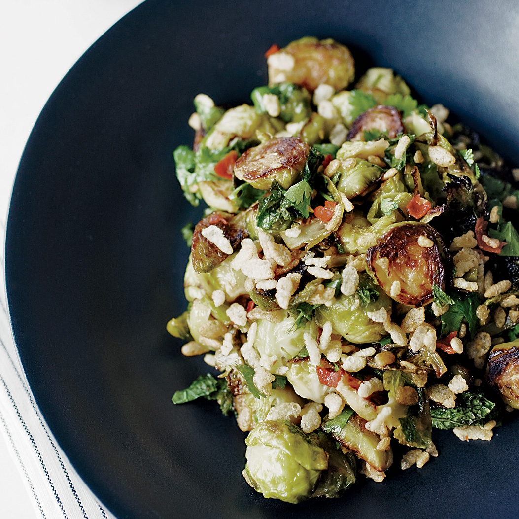 Spicy Brussels Sprouts with Mint Recipe - David Chang | Food & Wine
