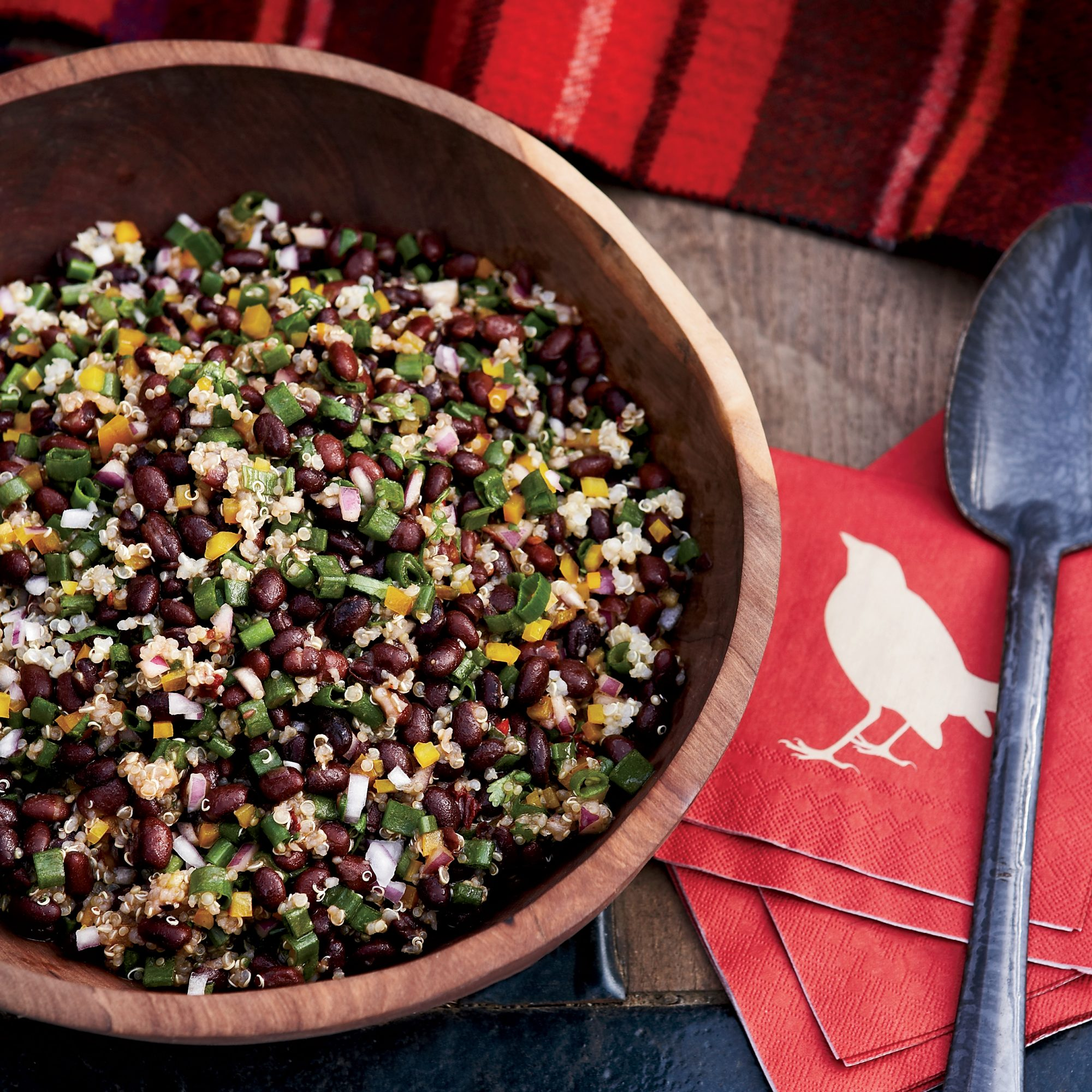 Black bean and quinoa salad recipe ken oringer food wine for Cuisine quinoa
