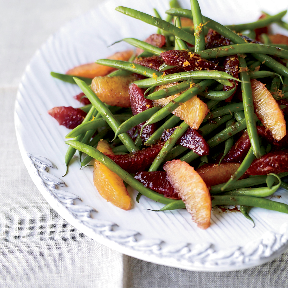 Best Holiday Recipes: 10 Fast Holiday Sides: Green Bean-and-Blood Orange Salad