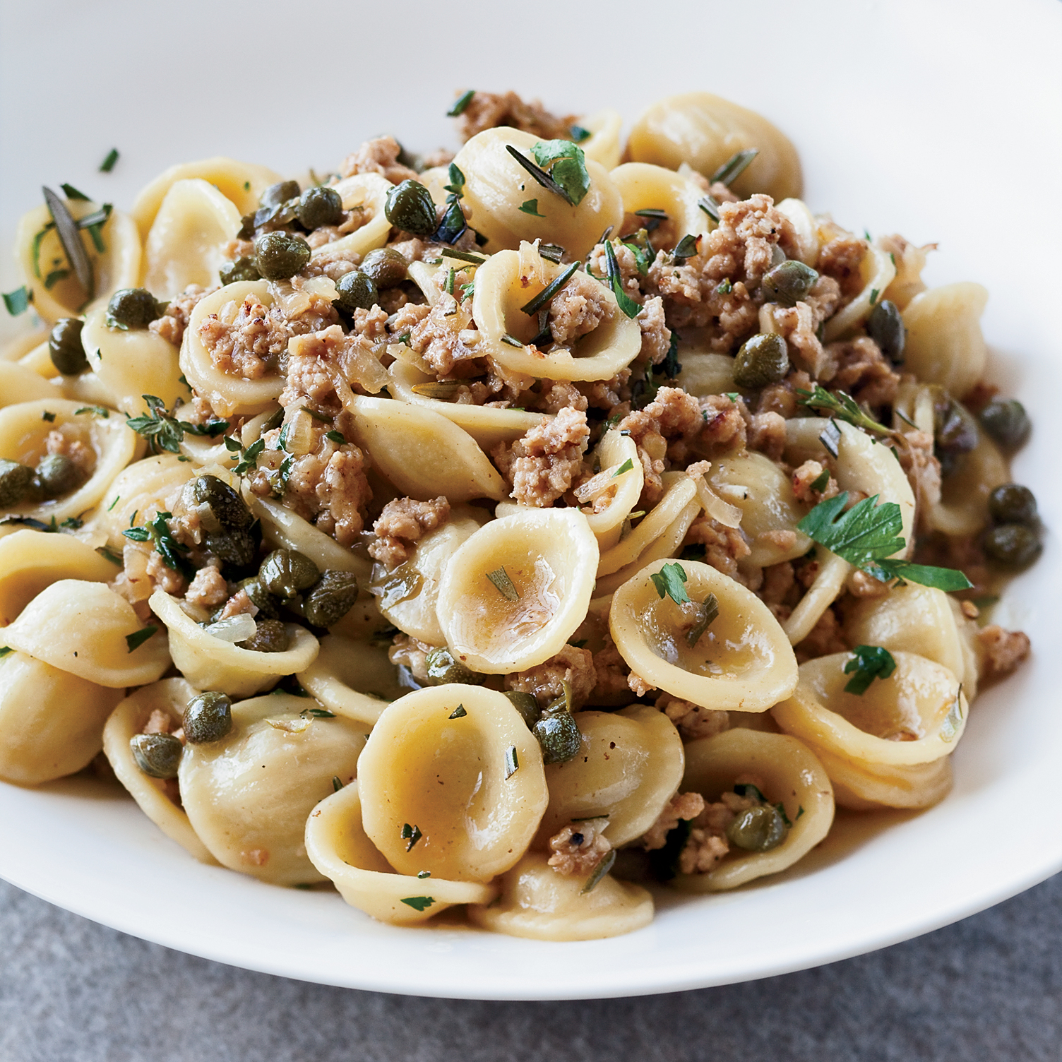 orecchiette with veal capers and white wine recipe