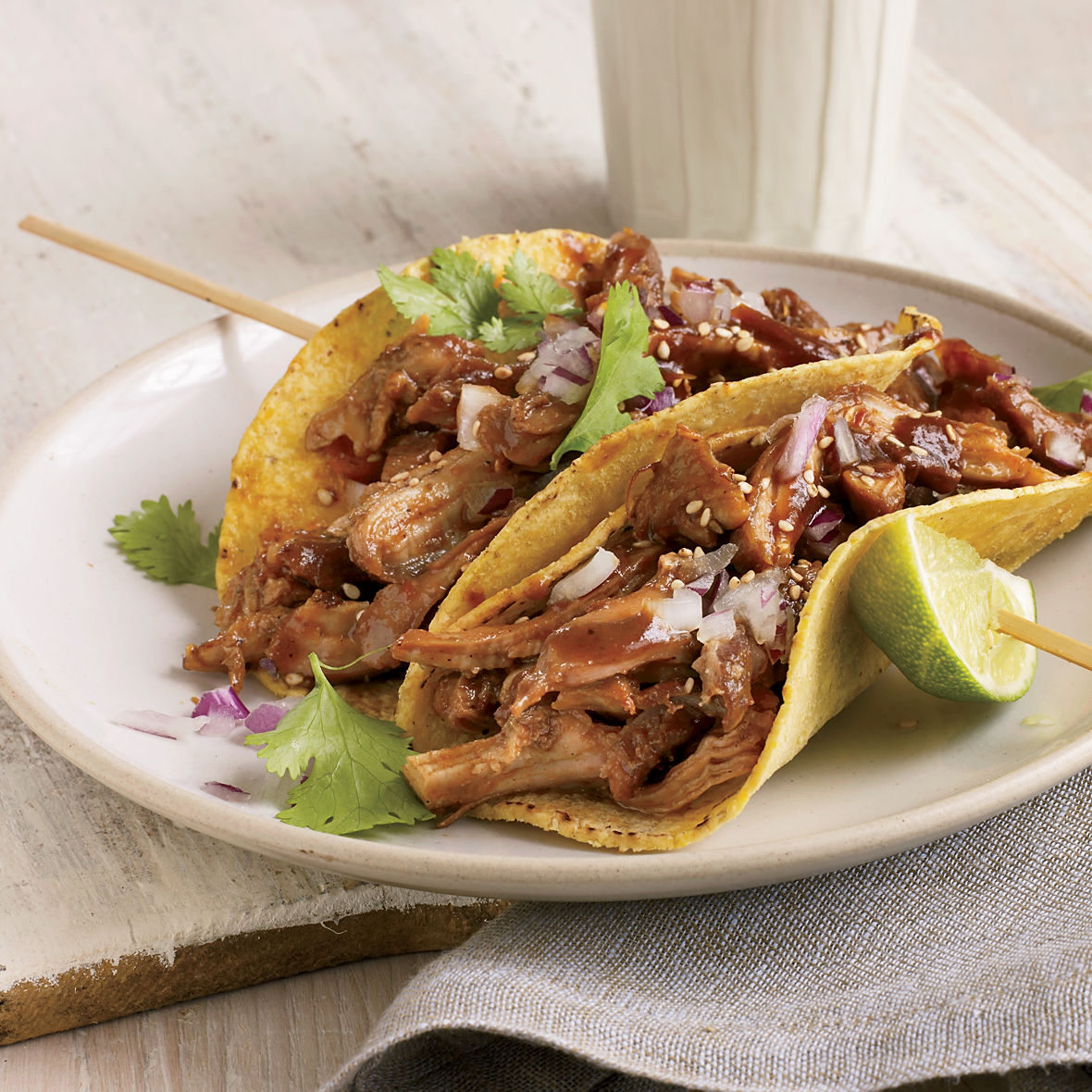 Beer Braised Turkey Tacos Recipe Deborah Schneider