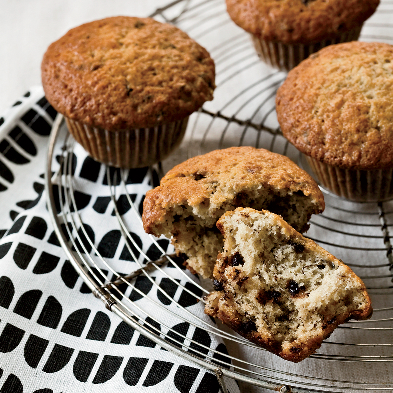 Chocolate Chip and Banana Muffins Recipe - Grace Parisi | Food & Wine