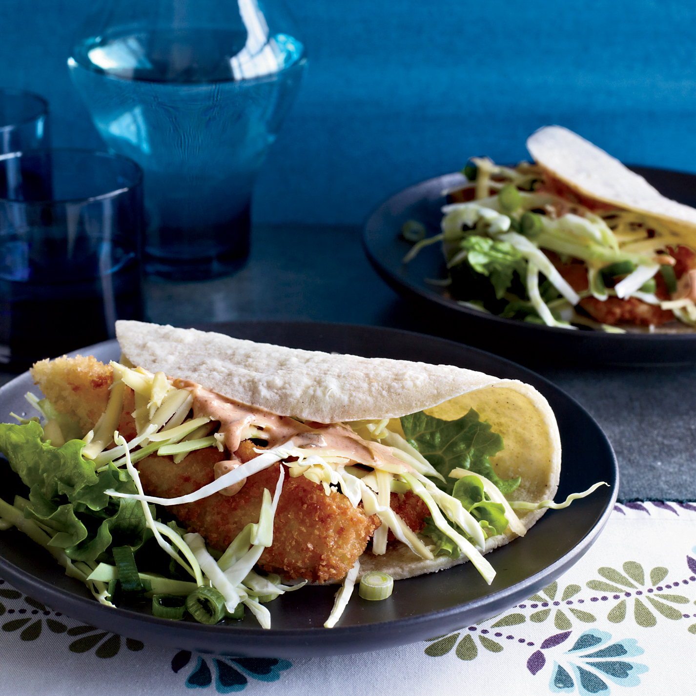 Crispy fried fish tacos recipe tomas lee food wine for Sides for fish tacos