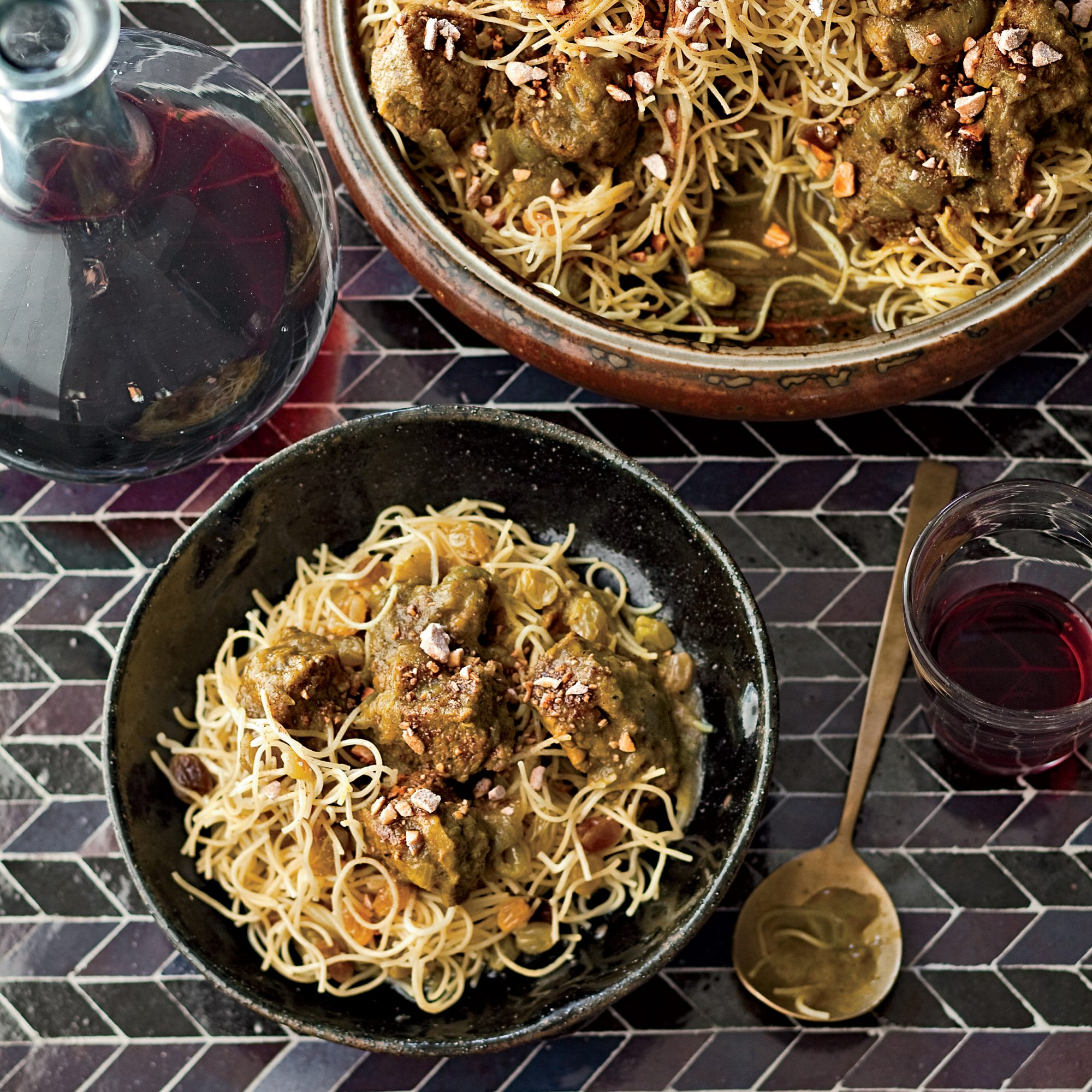Moroccan Lamb Stew with Noodles