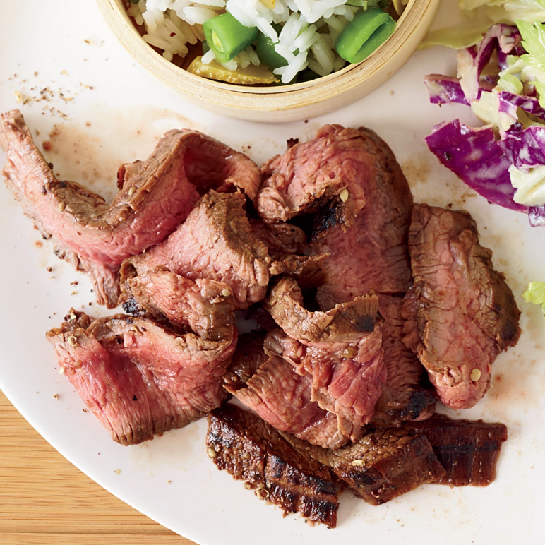 Grilled Flank Steak with Sichuan Peppercorns Recipe ...
