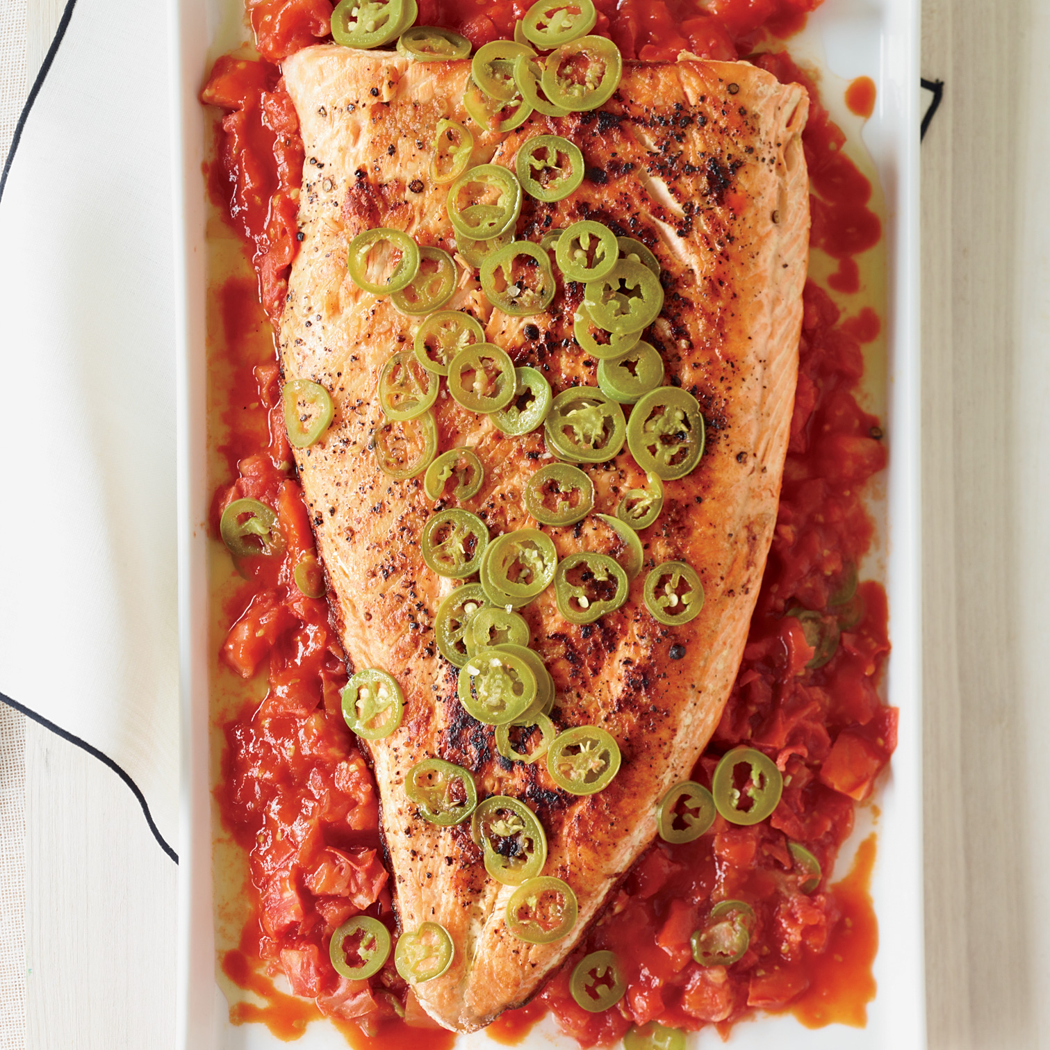 Grilled Salmon With Melted Tomatoes Recipe