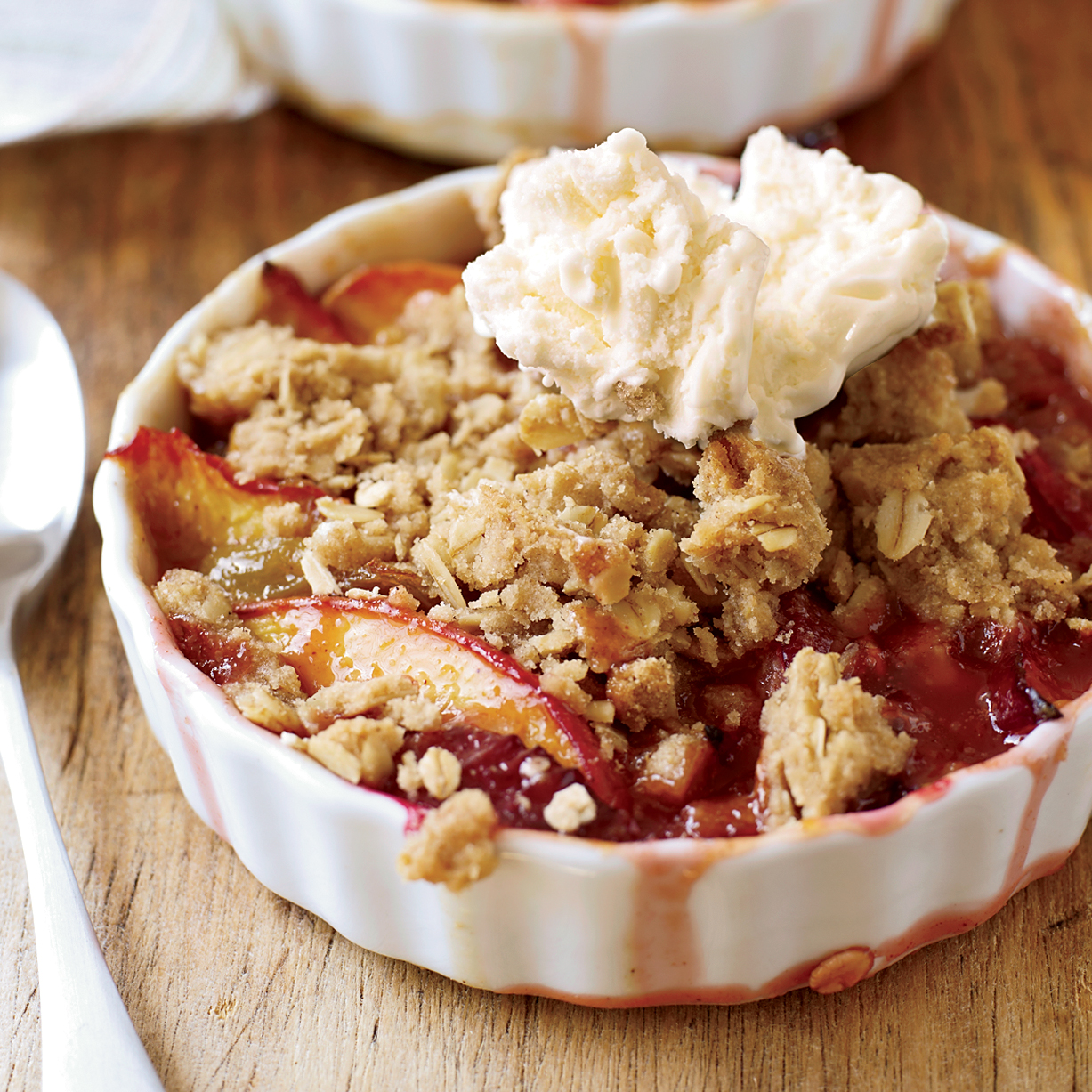Nectarine-and-Plum Crisp with Oatmeal Streusel Recipe - John Currence ...