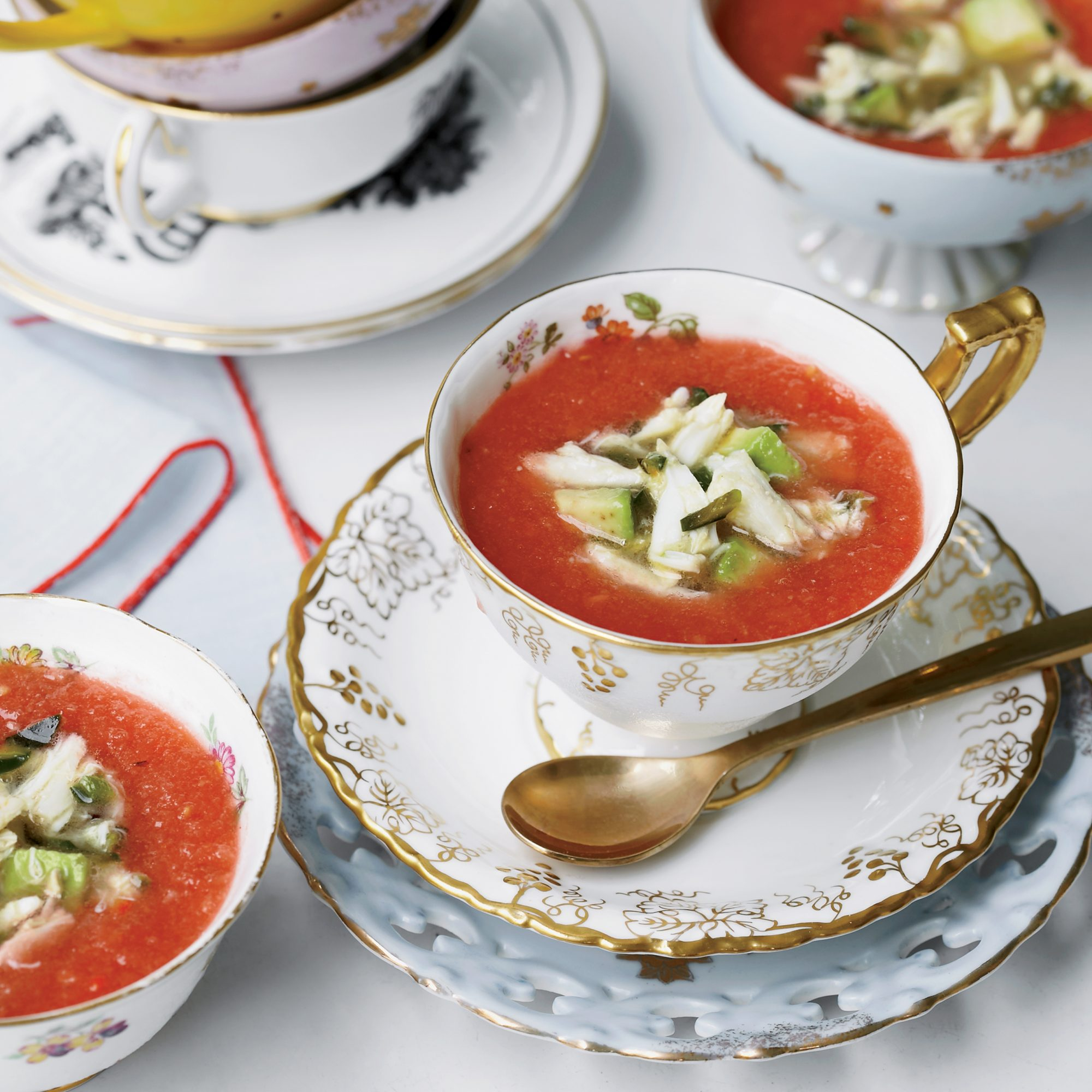 Spicy Tomato-and-Watermelon Gazpacho with Crab Recipe ...