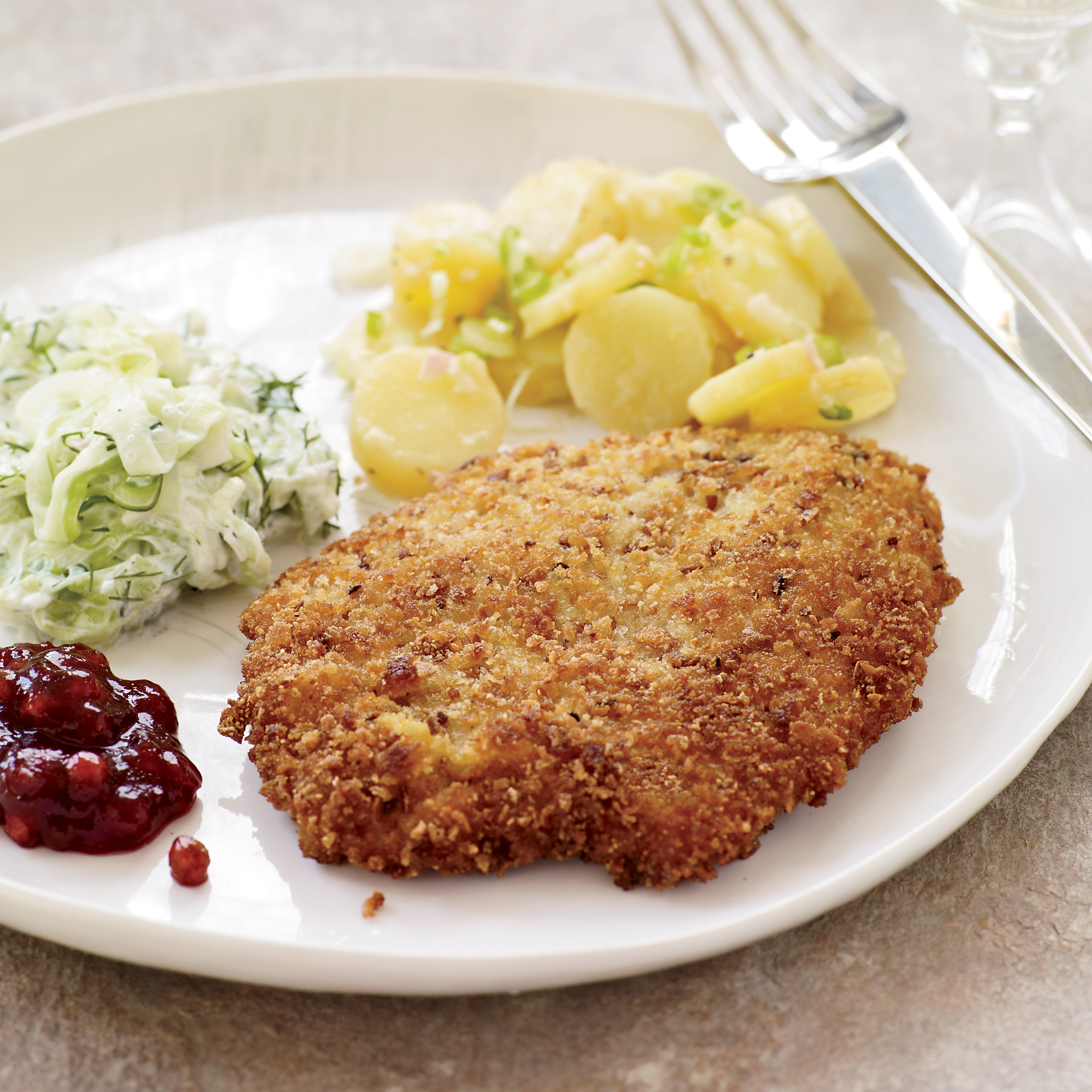 Crispy Wiener Schnitzel with Lingonberry Preserves Recipe - Wolfgang ...