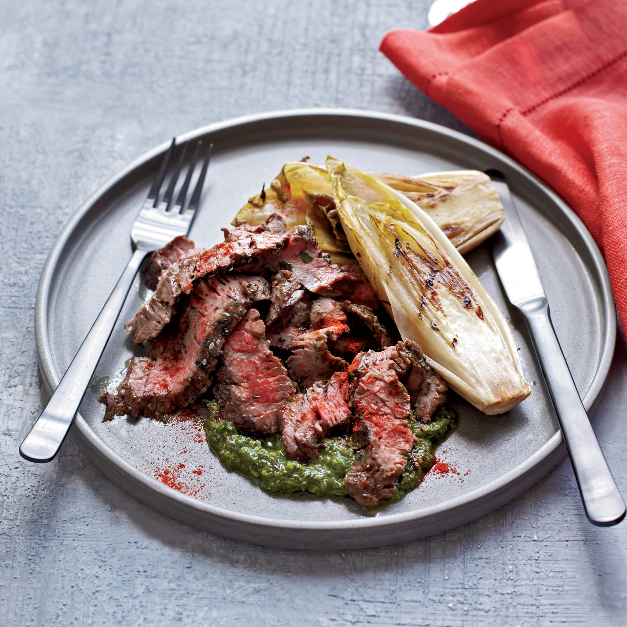 Grilled Skirt Steak with Salsa Verde Recipe - Mario Batali ...