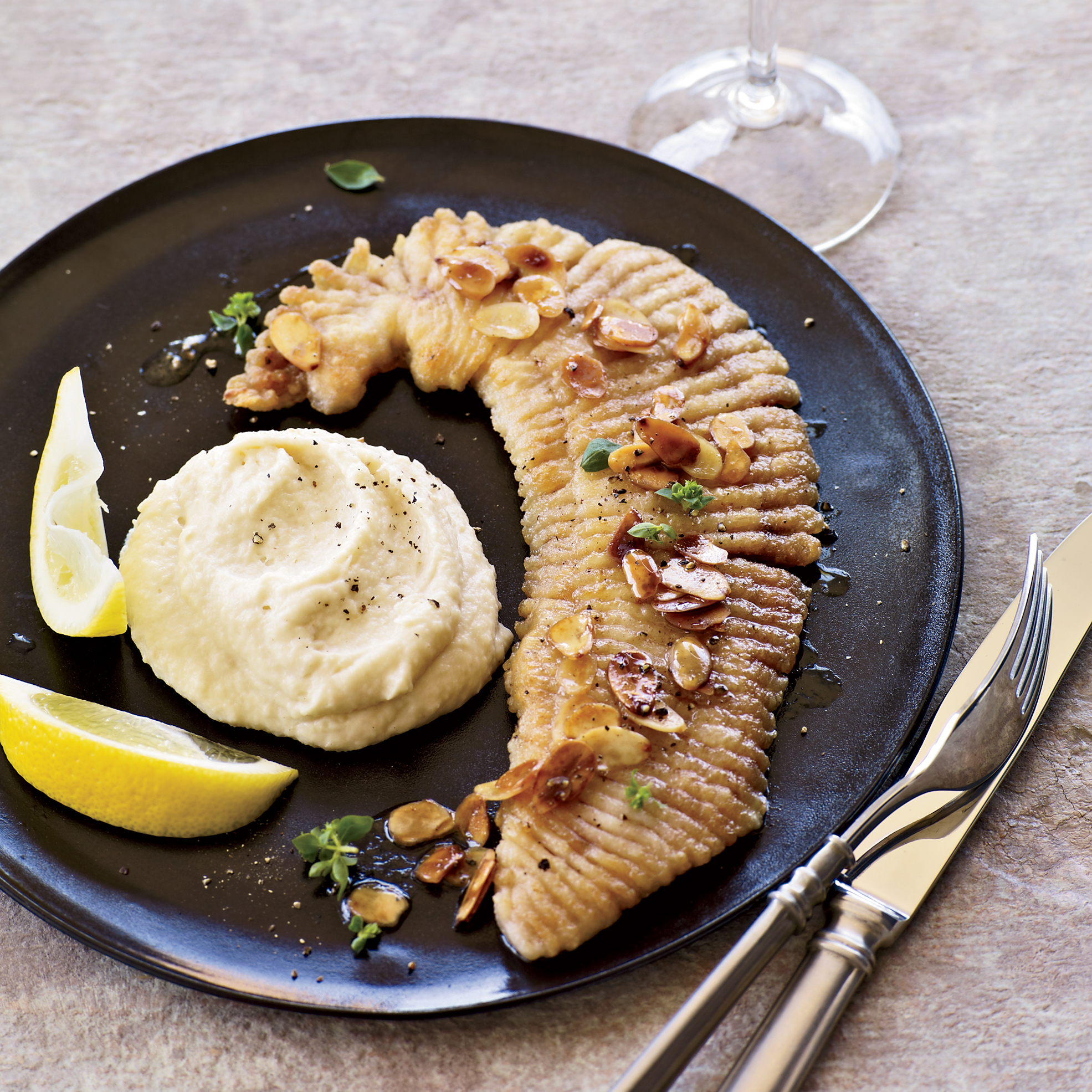 Pan Fried Skate With Brown Butter And Parsnip Puree Recipe