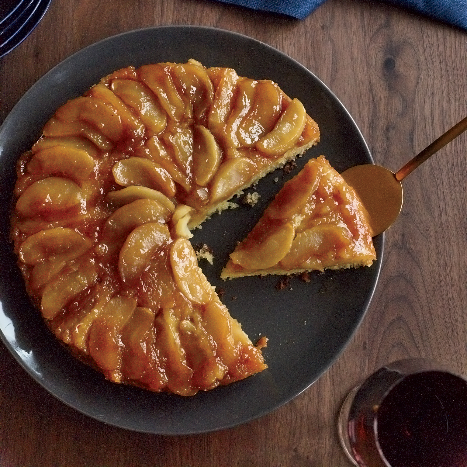 Upside Down Apple Tea Cake