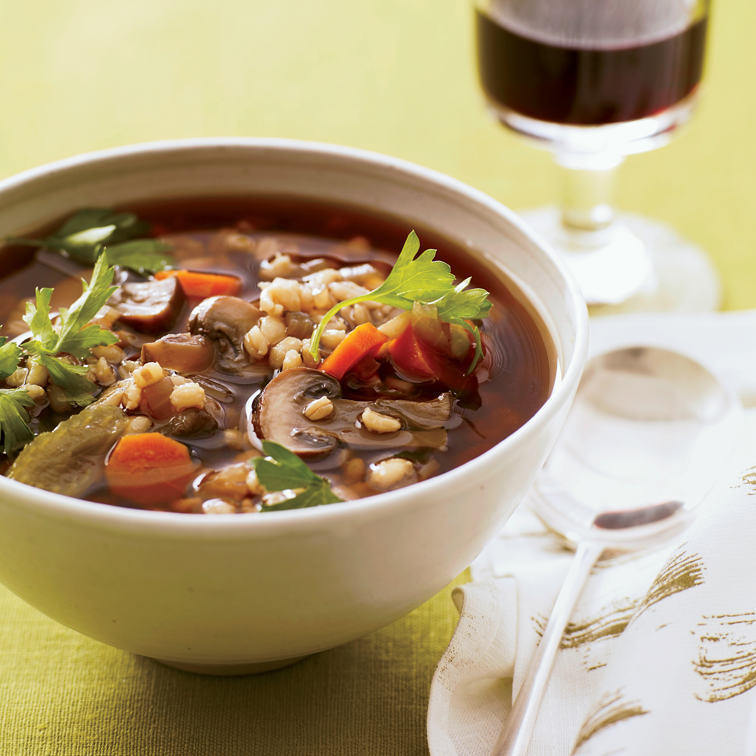 Mushroom Barley Soup and other Healthy Recipes