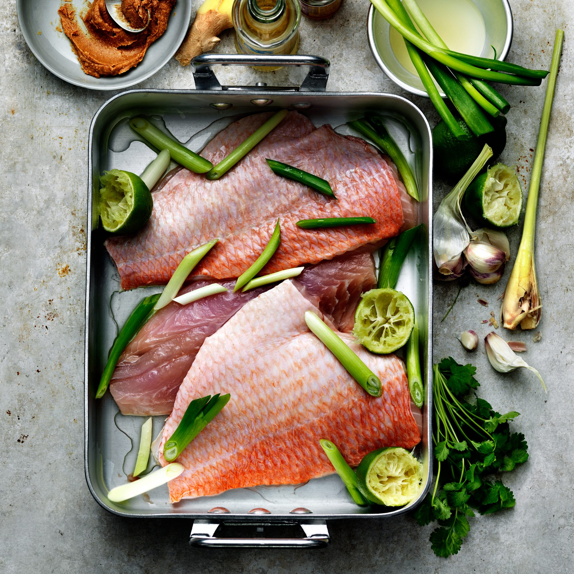 Steamed Snapper with Tangy Peanut Sauce