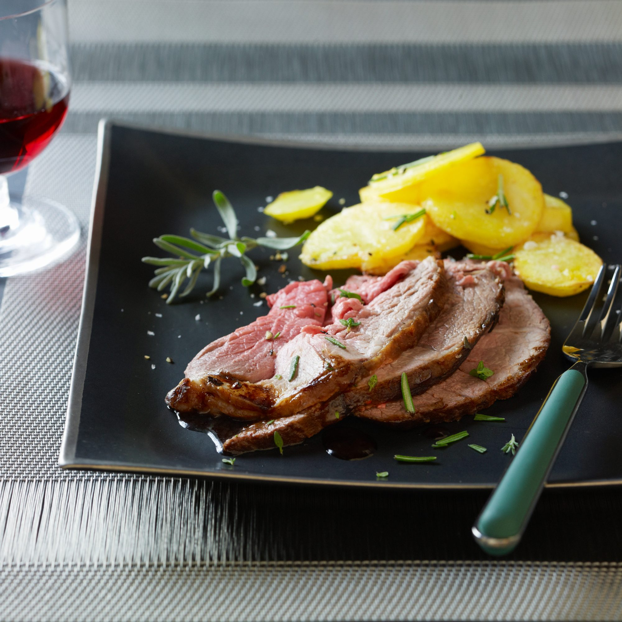 Salt-Baked Leg of Lamb with Olive Oil Potatoes Recipe