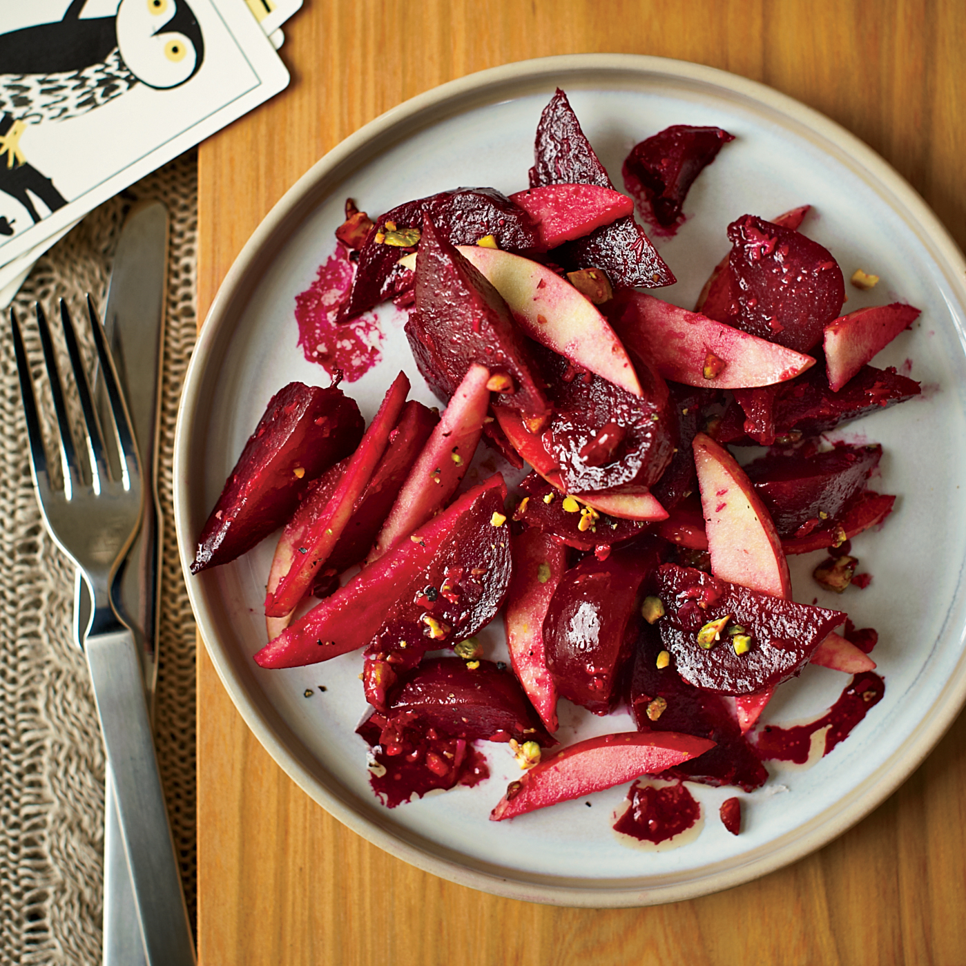 Healthy Thanksgiving Side Dishes like Beet and Apple Salad