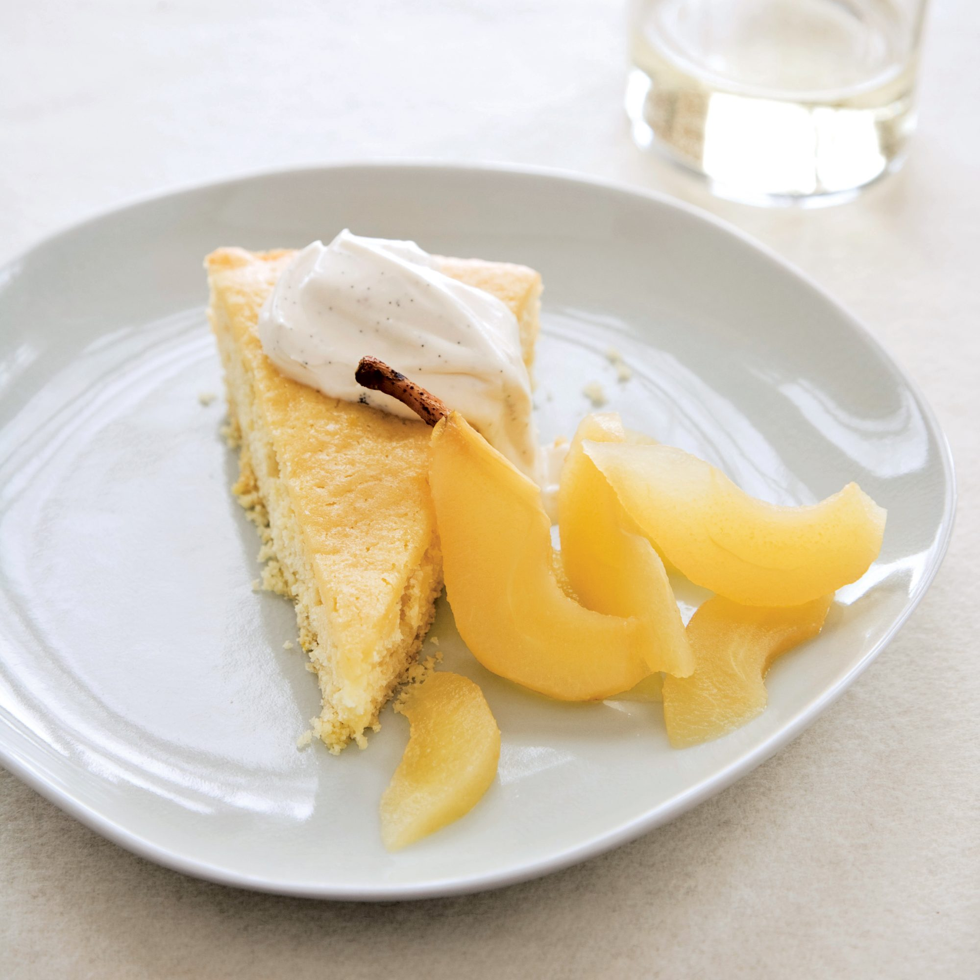 Buttermilk Cake with Riesling-Poached Pears Recipe - Tory Miller ...