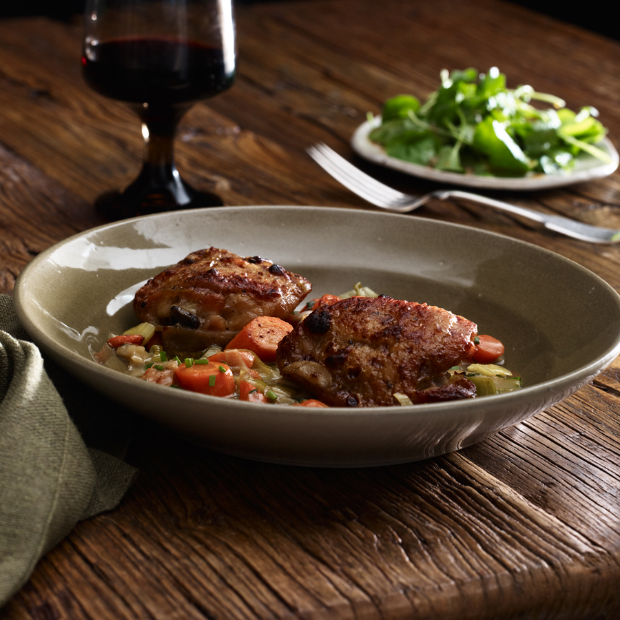 Cider Vinegar-Braised Chicken Thighs Recipe - James Boyce ...