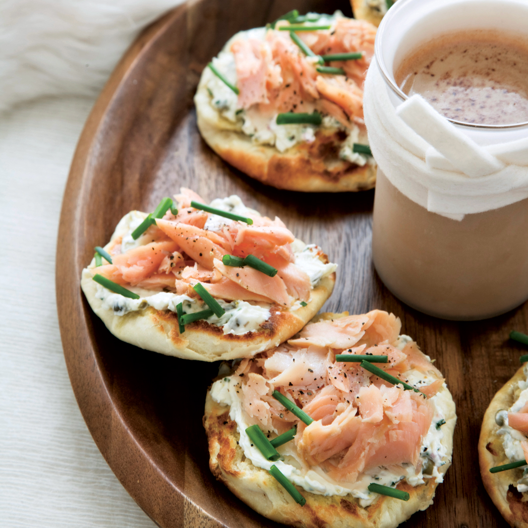 Smoked-Trout-and-Caper-Cream-Cheese Toasts Recipe - Tory ...