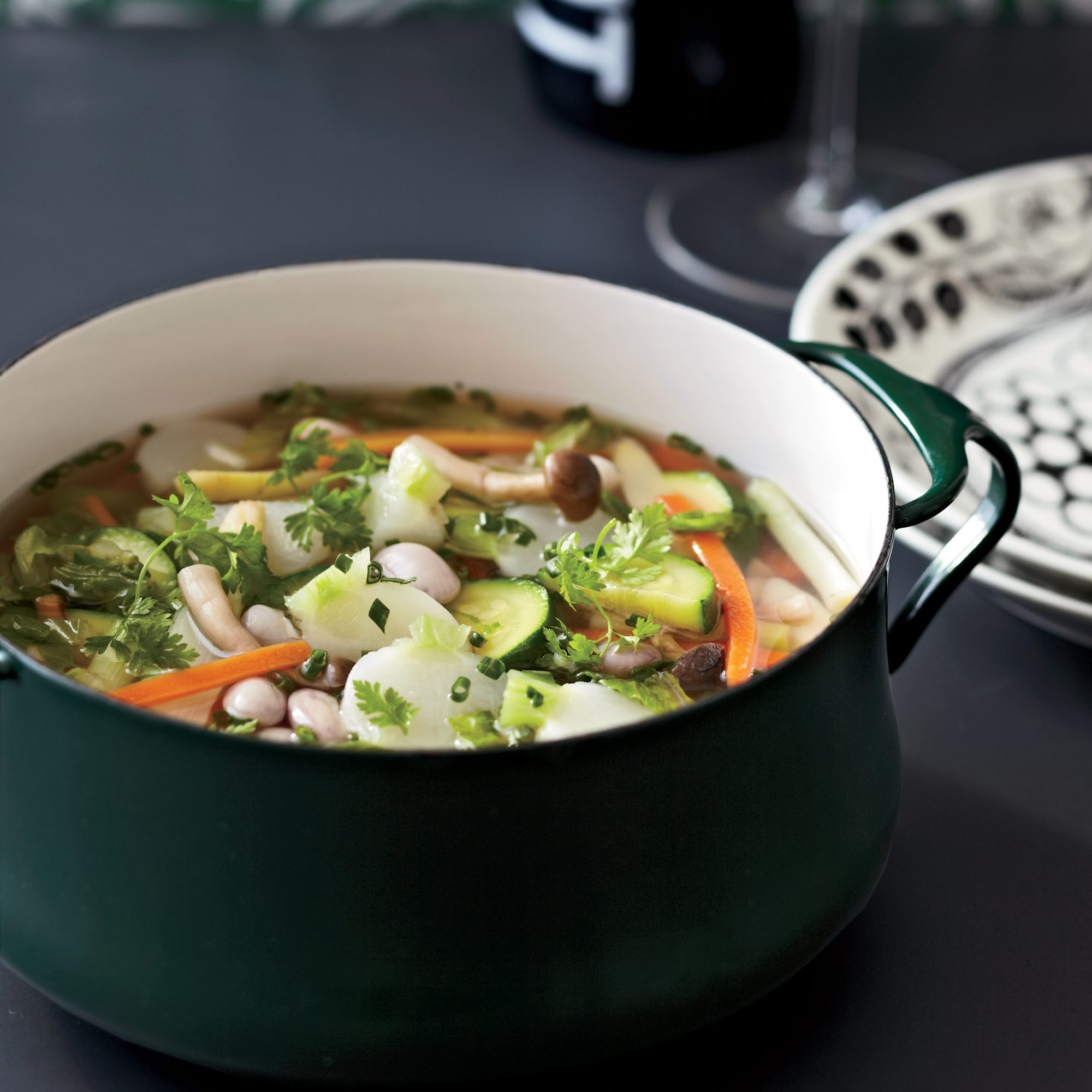 Spring Vegetable and Turkey Soup