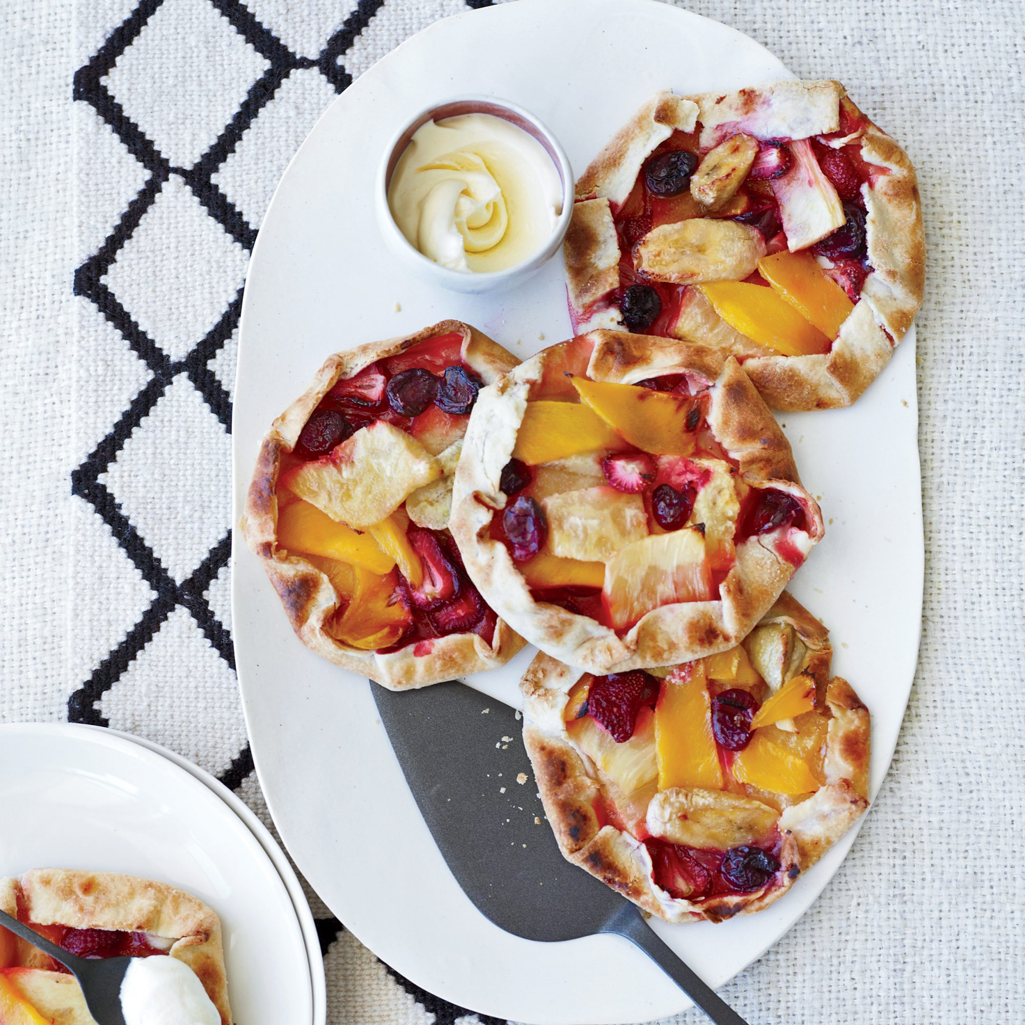 Free-Form Pineapple, Mango and Berry Tarts
