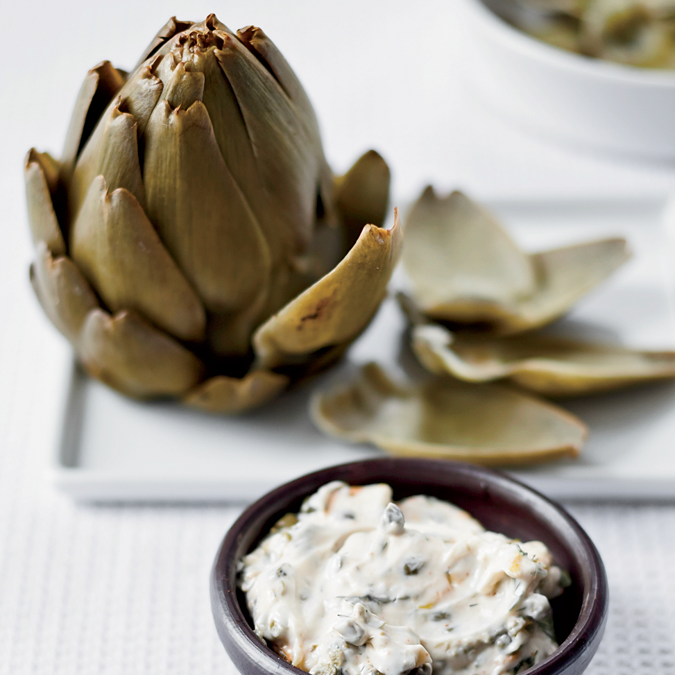 <p>Artichokes with Smoked Mayonnaise</p>