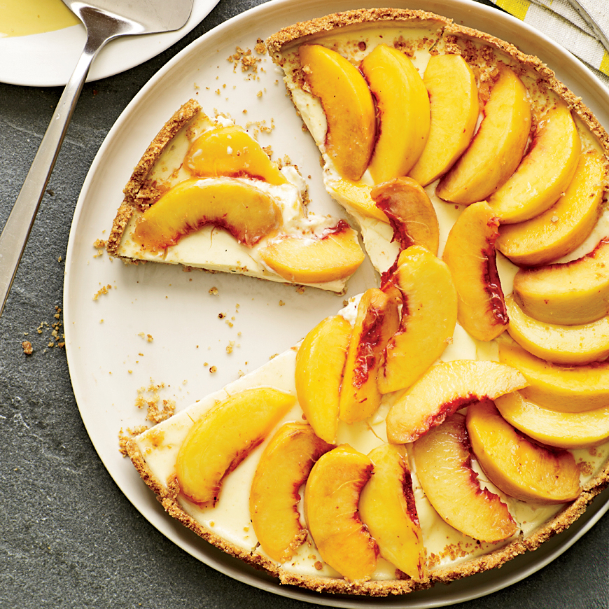 Creamy Peach Tart With Smoky Almond Crust Recipe Grace