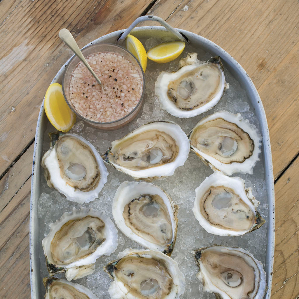 oysters on the half shell with ros233 mignonette recipe