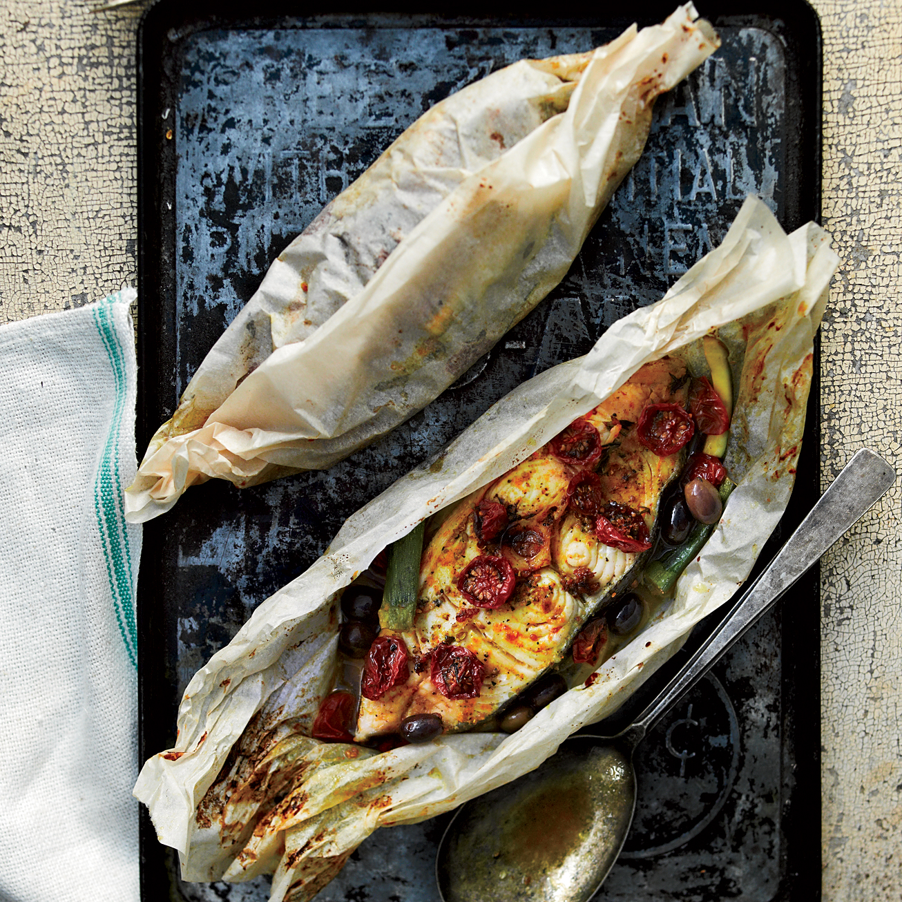 Halibut and summer vegetables en papillote recipe nikole for How to cook halibut fish